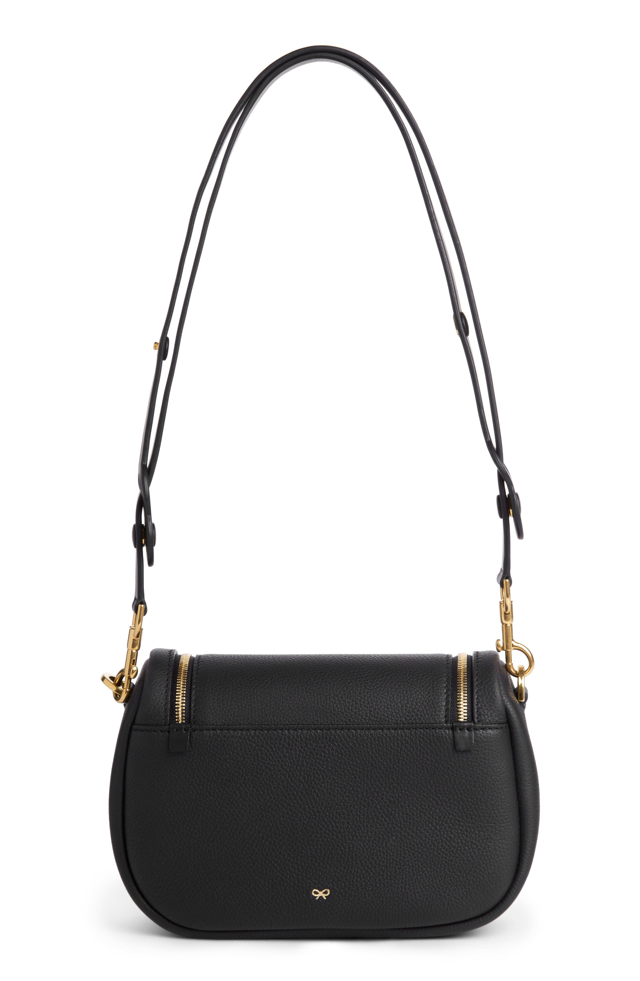 Small Vere Leather Crossbody Satchel,                             Alternate thumbnail 2, color,                             BLACK