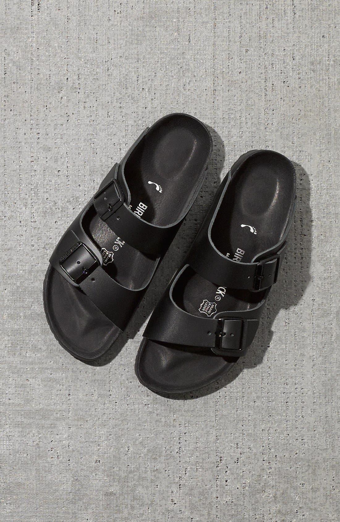 Monterey Leather Slide Sandal,                             Alternate thumbnail 5, color,                             001