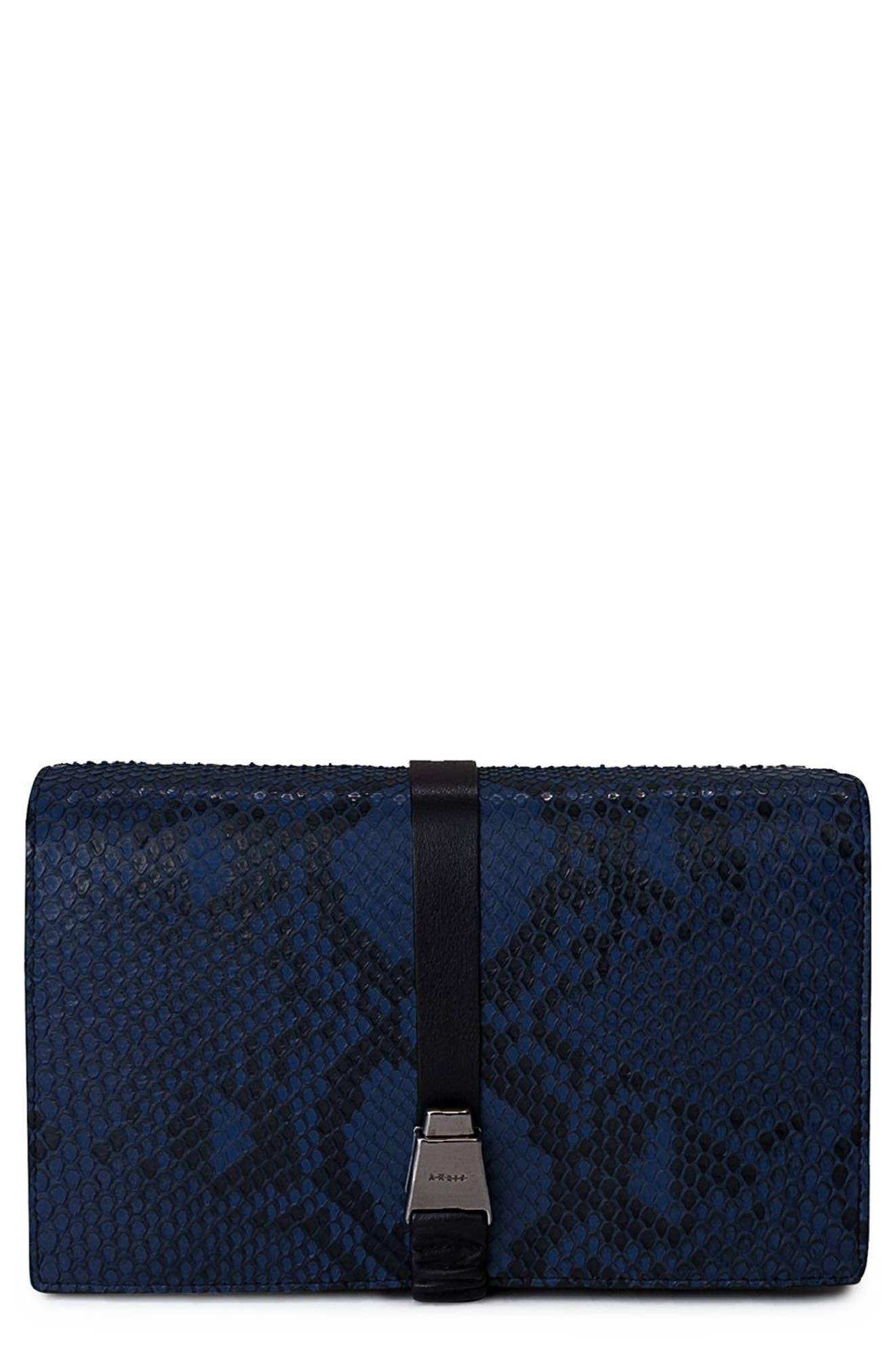 Alice Genuine Python Crossbody Bag,                             Main thumbnail 2, color,