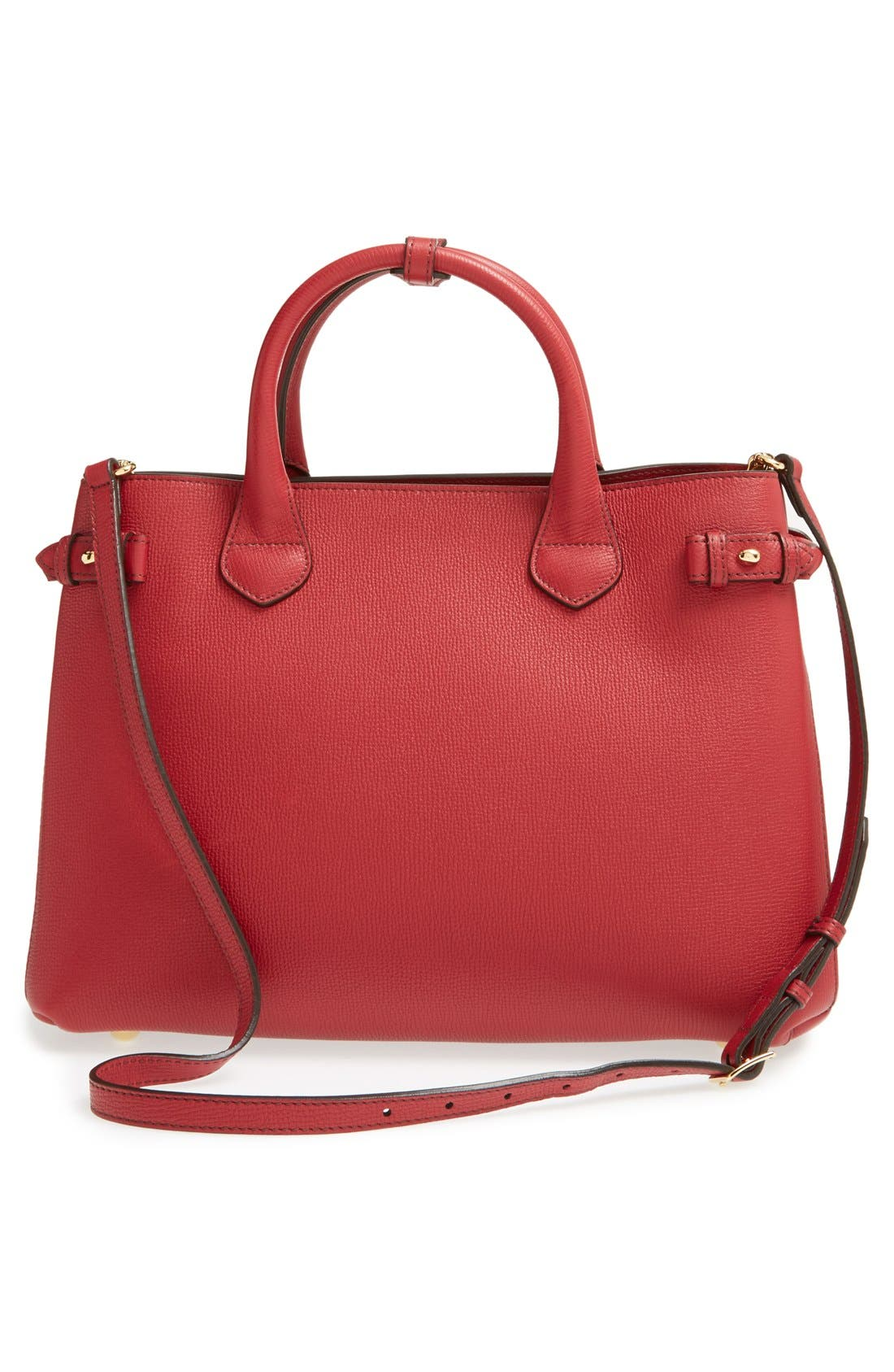 Medium Banner Leather Tote,                             Alternate thumbnail 2, color,                             RUSSET RED