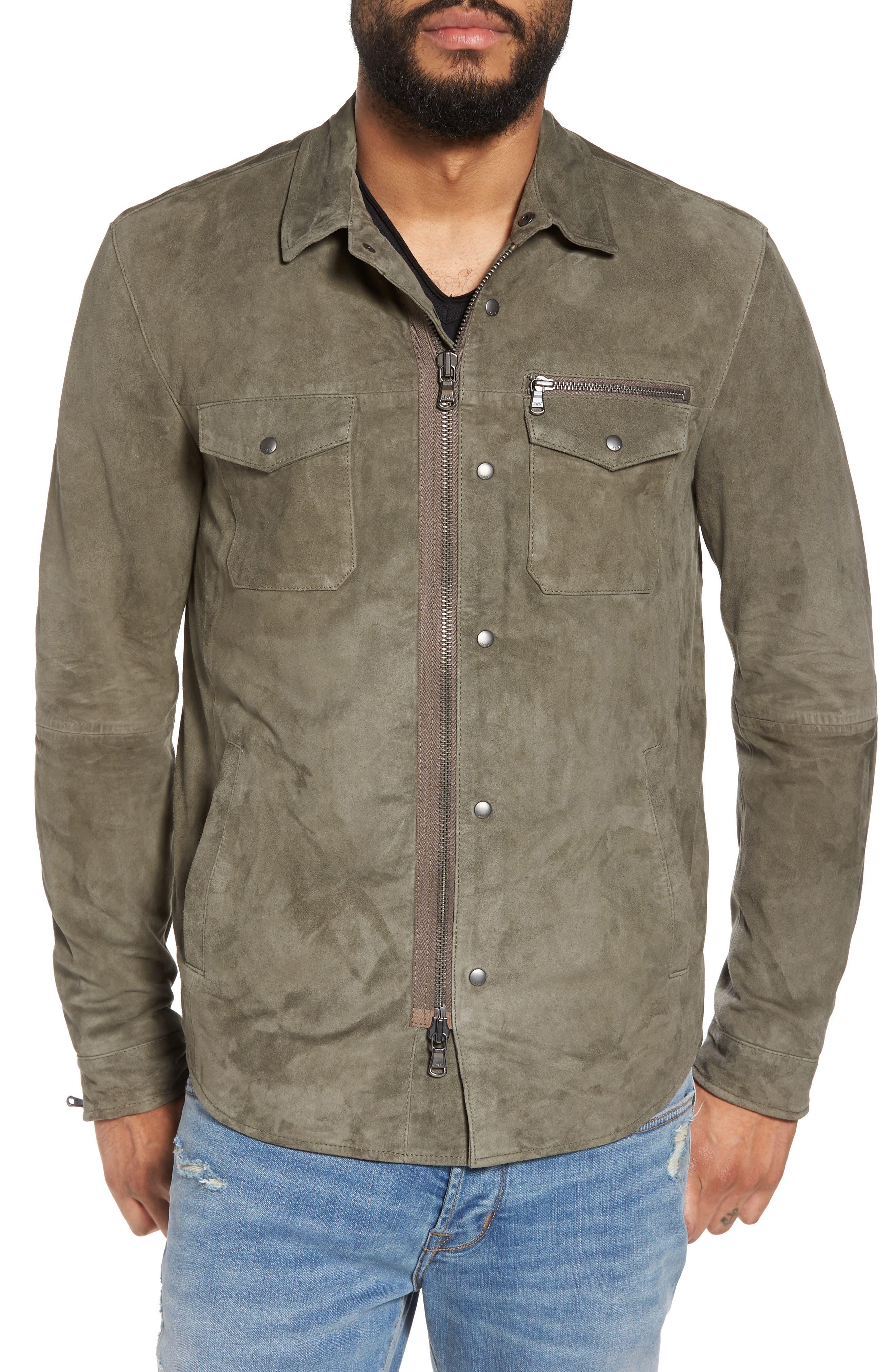 Suede Shirt Jacket,                             Alternate thumbnail 4, color,                             310