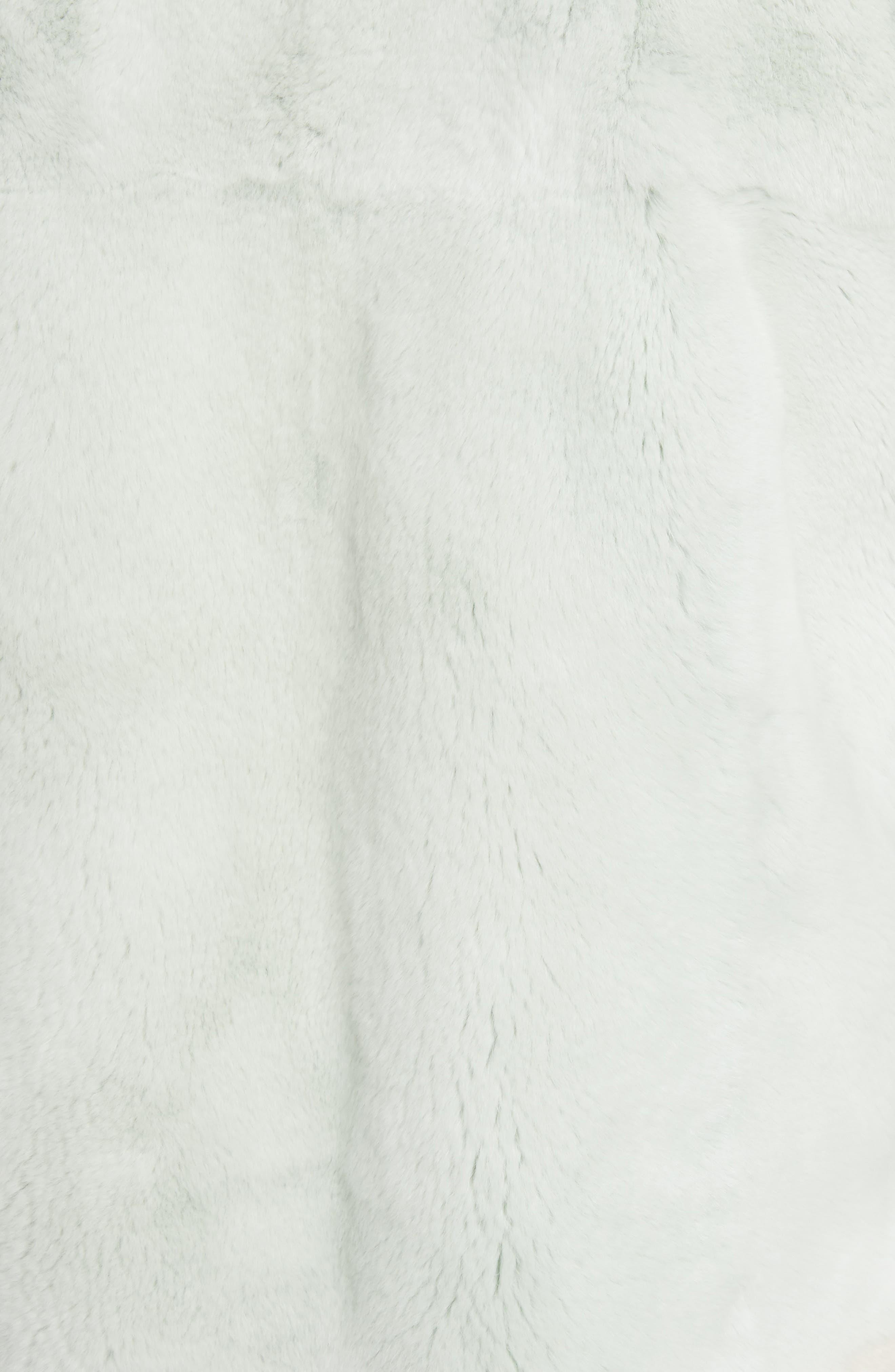Genuine Rabbit Fur Intarsia Vest,                             Alternate thumbnail 6, color,                             205