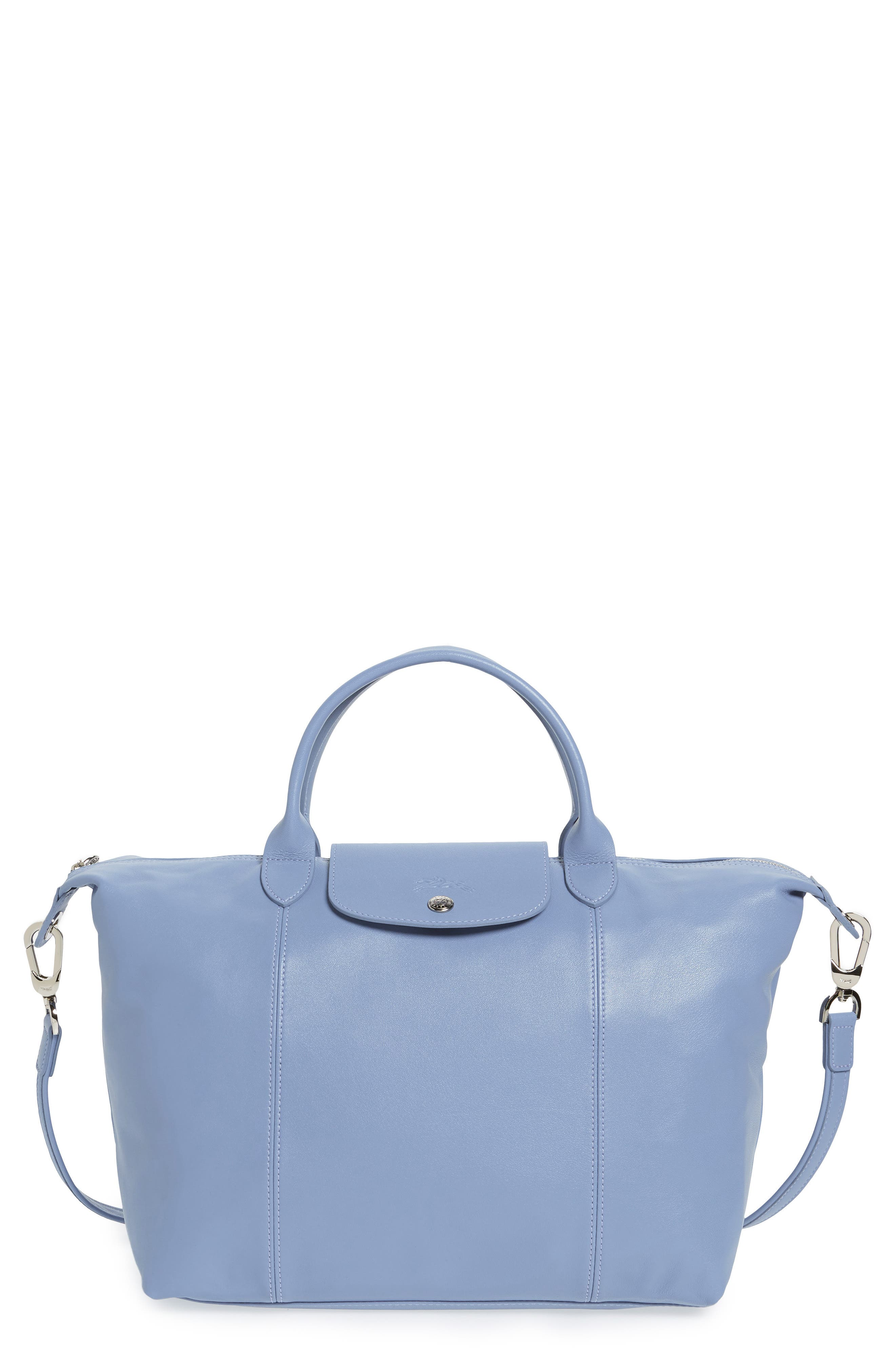 Medium 'Le Pliage Cuir' Leather Top Handle Tote,                             Main thumbnail 20, color,