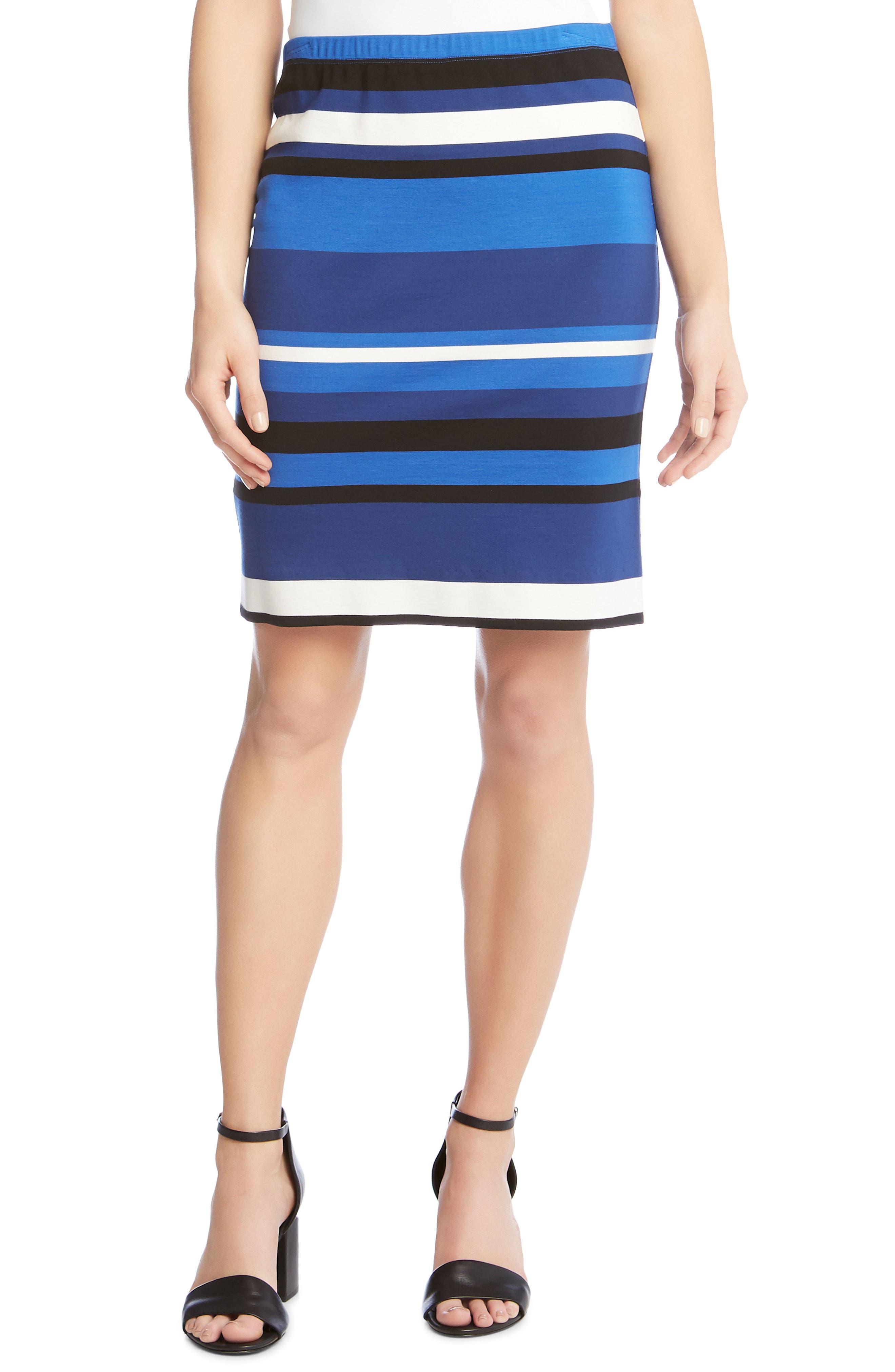 Modern Stripe Skirt,                             Main thumbnail 1, color,                             489