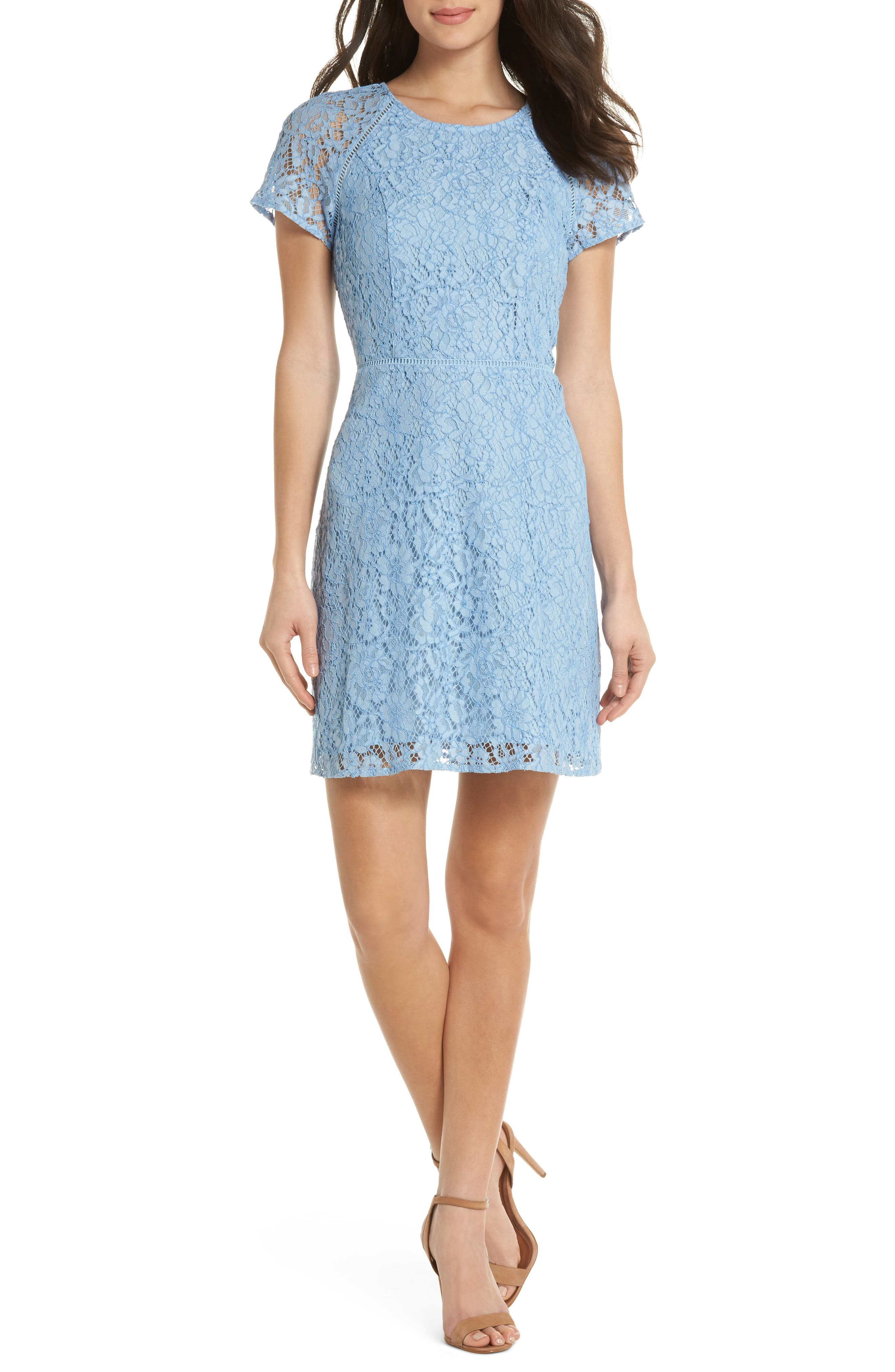 Raglan Sleeve Lace Dress,                             Main thumbnail 1, color,                             400