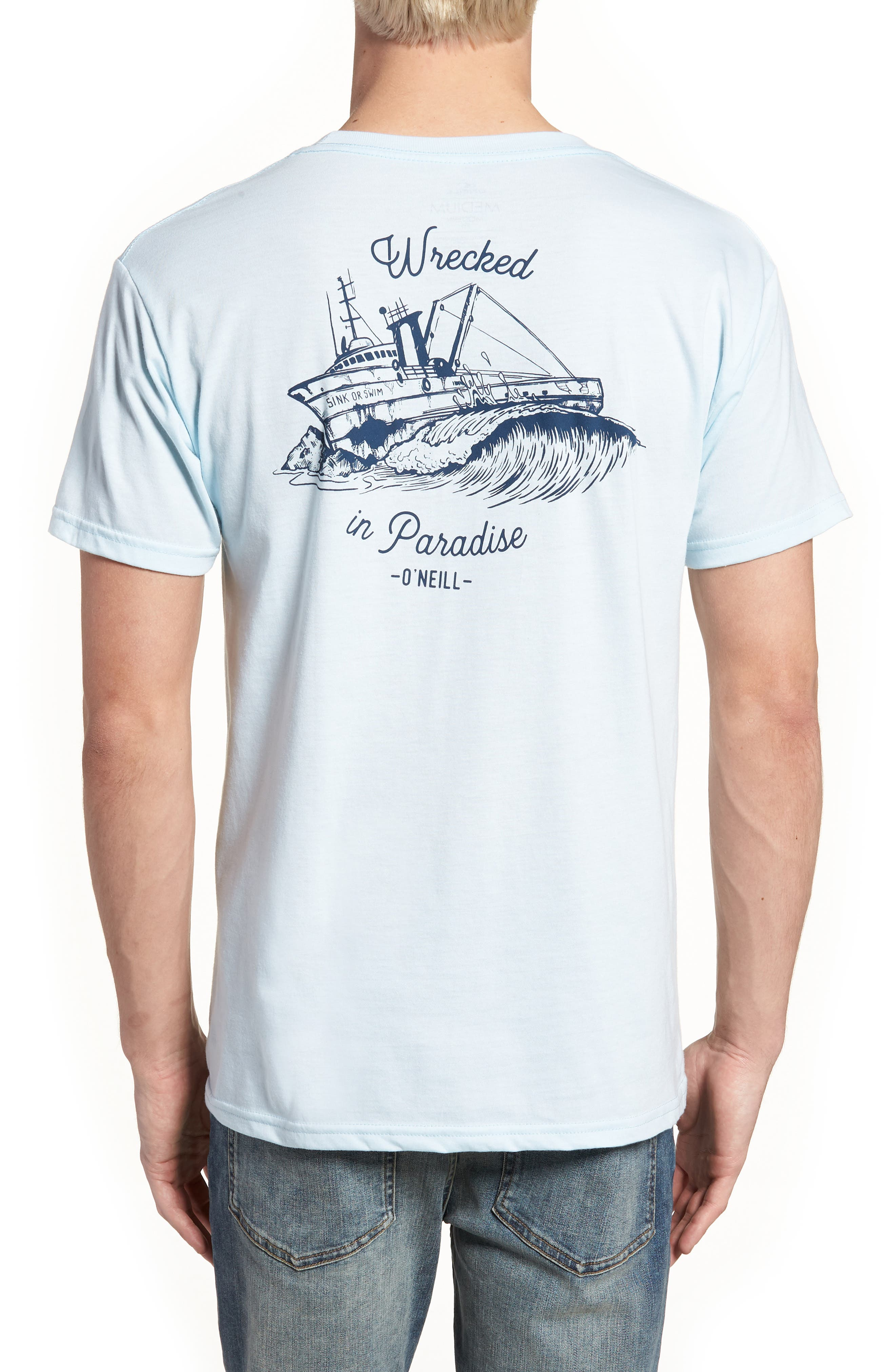 Wrecked Graphic T-Shirt,                             Alternate thumbnail 4, color,