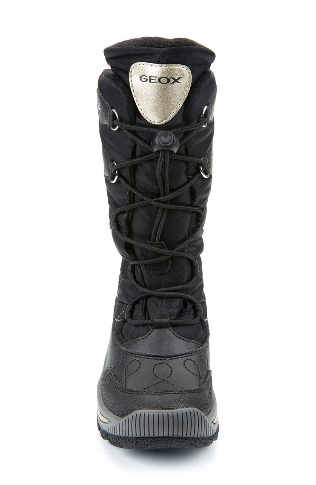 'Overland ABX' Waterproof Boot,                             Alternate thumbnail 3, color,                             BLACK/ GOLD