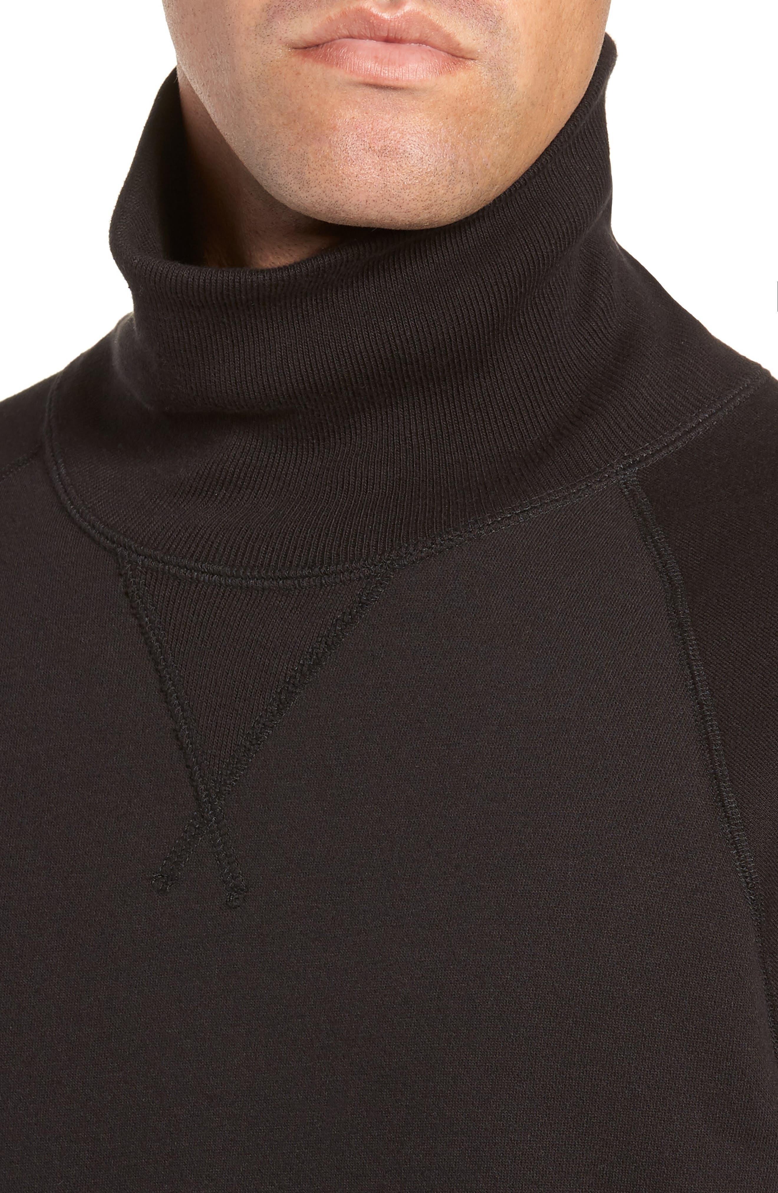 + Champion Turtleneck Sweatshirt,                             Alternate thumbnail 4, color,                             001