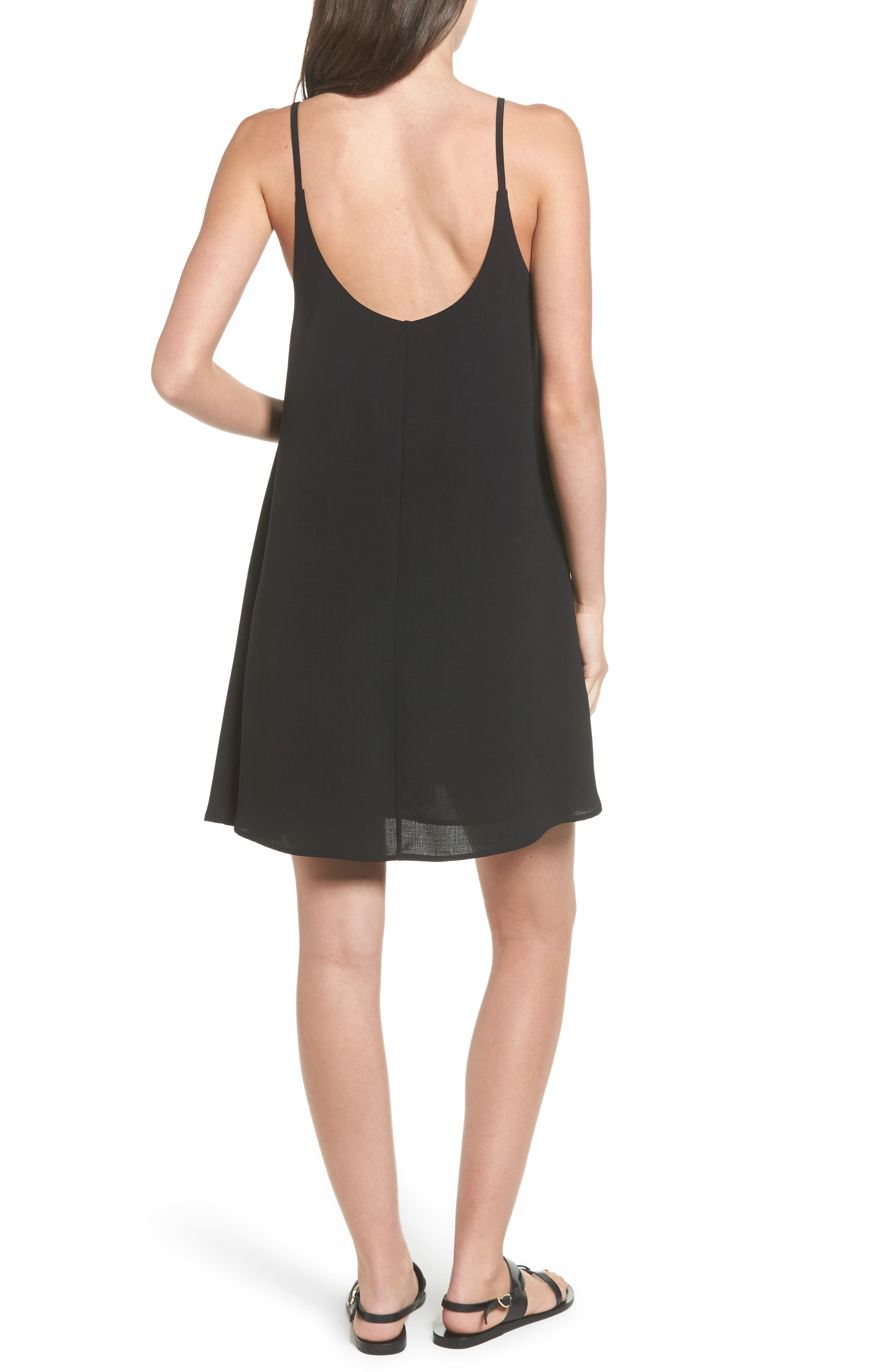 Strappy Camisole Dress,                             Alternate thumbnail 2, color,                             001
