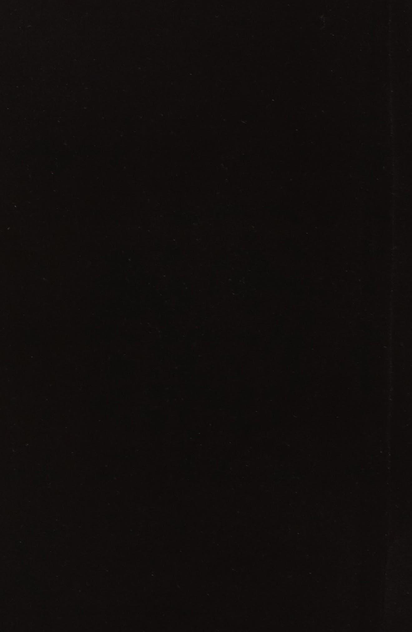 Lace & Velvet Sheath Dress,                             Alternate thumbnail 5, color,                             BLACK