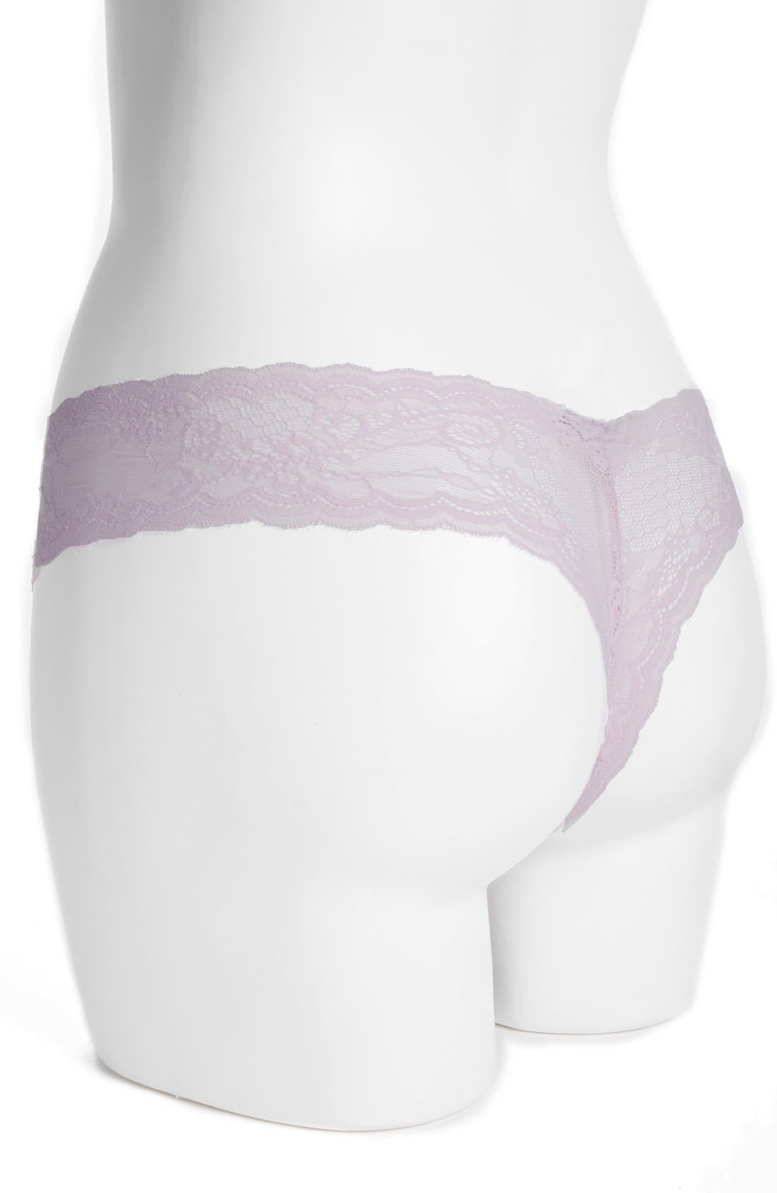 'Trenta' Low Rise Lace Thong,                             Alternate thumbnail 112, color,