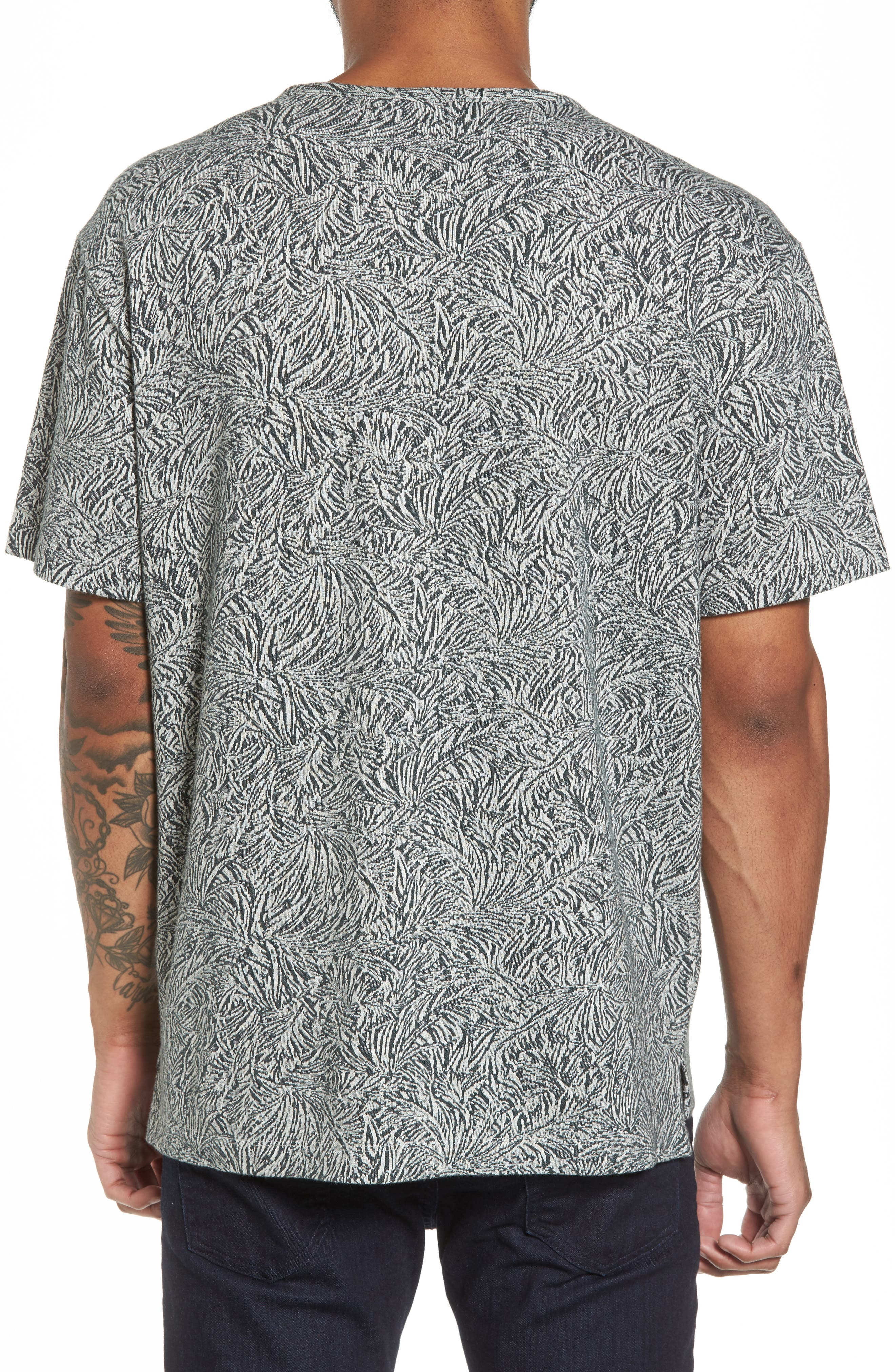 Palm Jacquard Crewneck T-Shirt,                             Alternate thumbnail 2, color,                             177