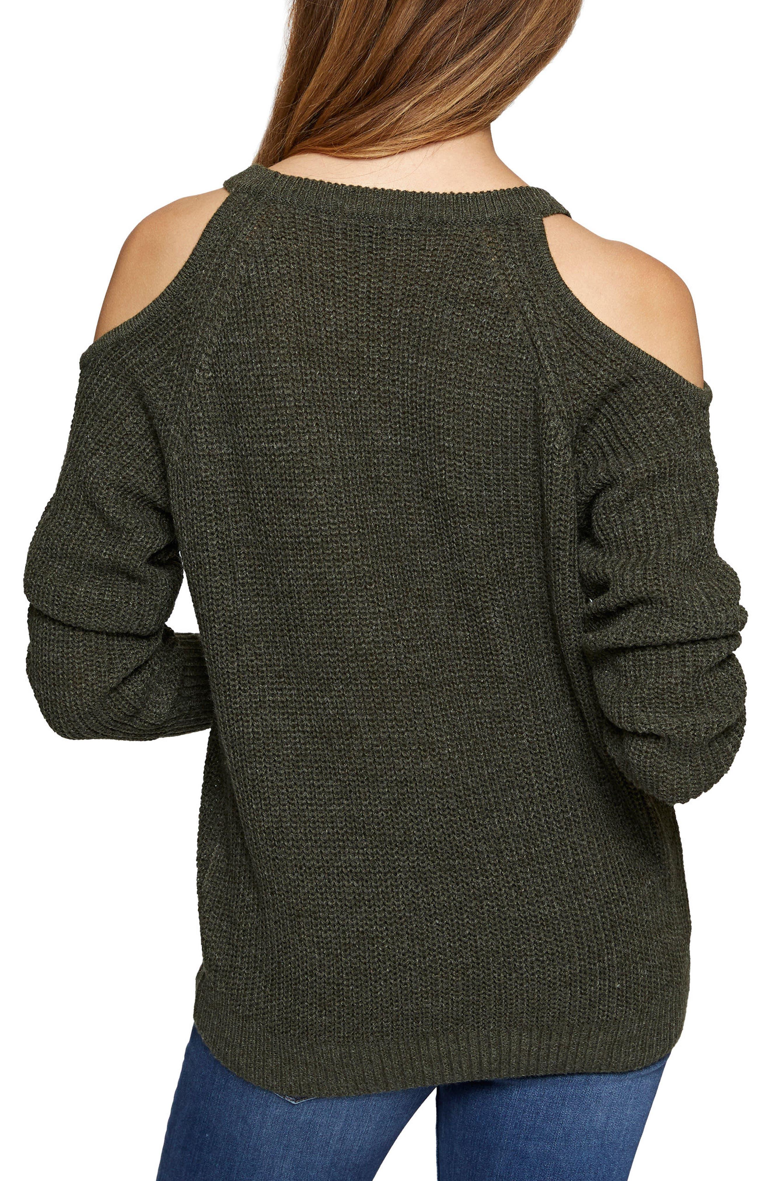 Riley Cold Shoulder Sweater,                             Alternate thumbnail 2, color,                             305