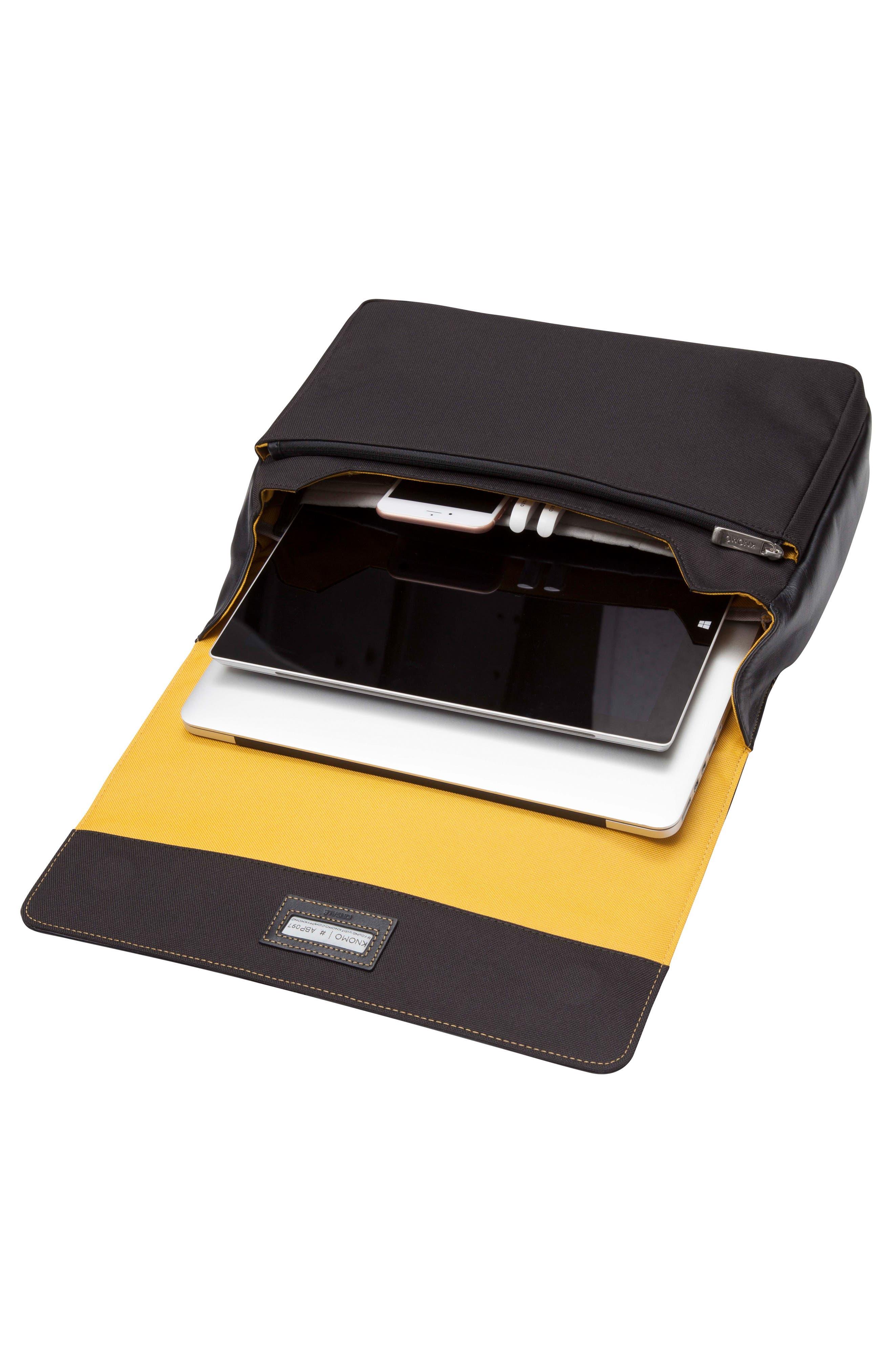 Brompton Kinsale RFID Leather Messenger Bag,                             Alternate thumbnail 3, color,                             001