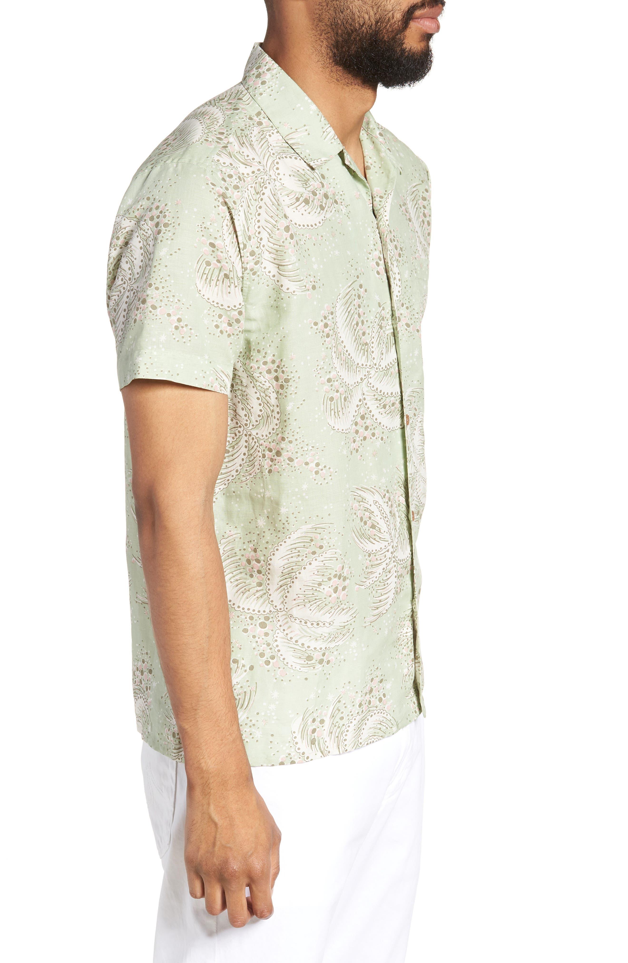 Malick Slim Fit Print Sport Shirt,                             Alternate thumbnail 3, color,                             300