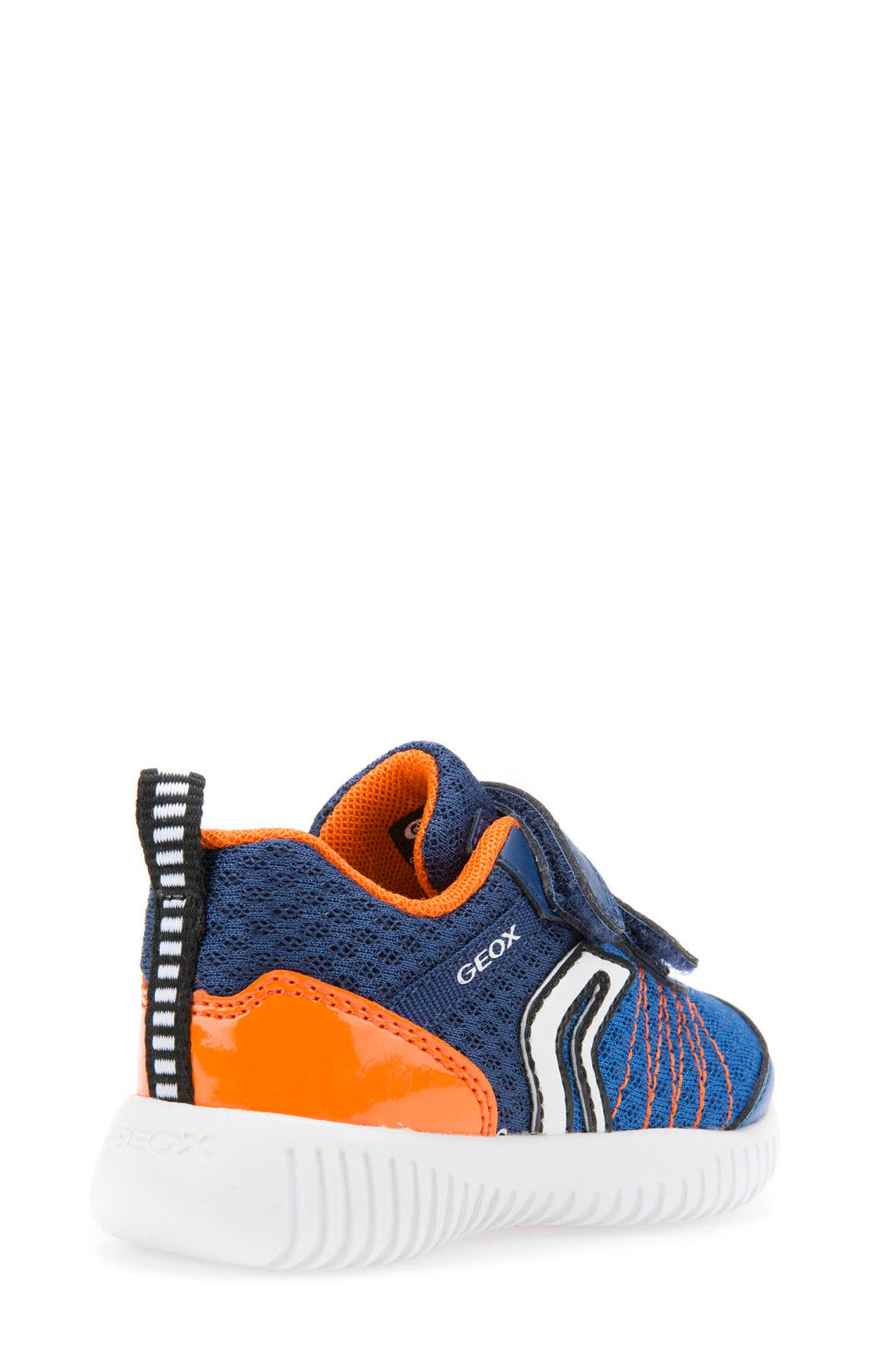 Waviness Waterproof Sneaker,                             Alternate thumbnail 2, color,                             NAVY/ ORANGE