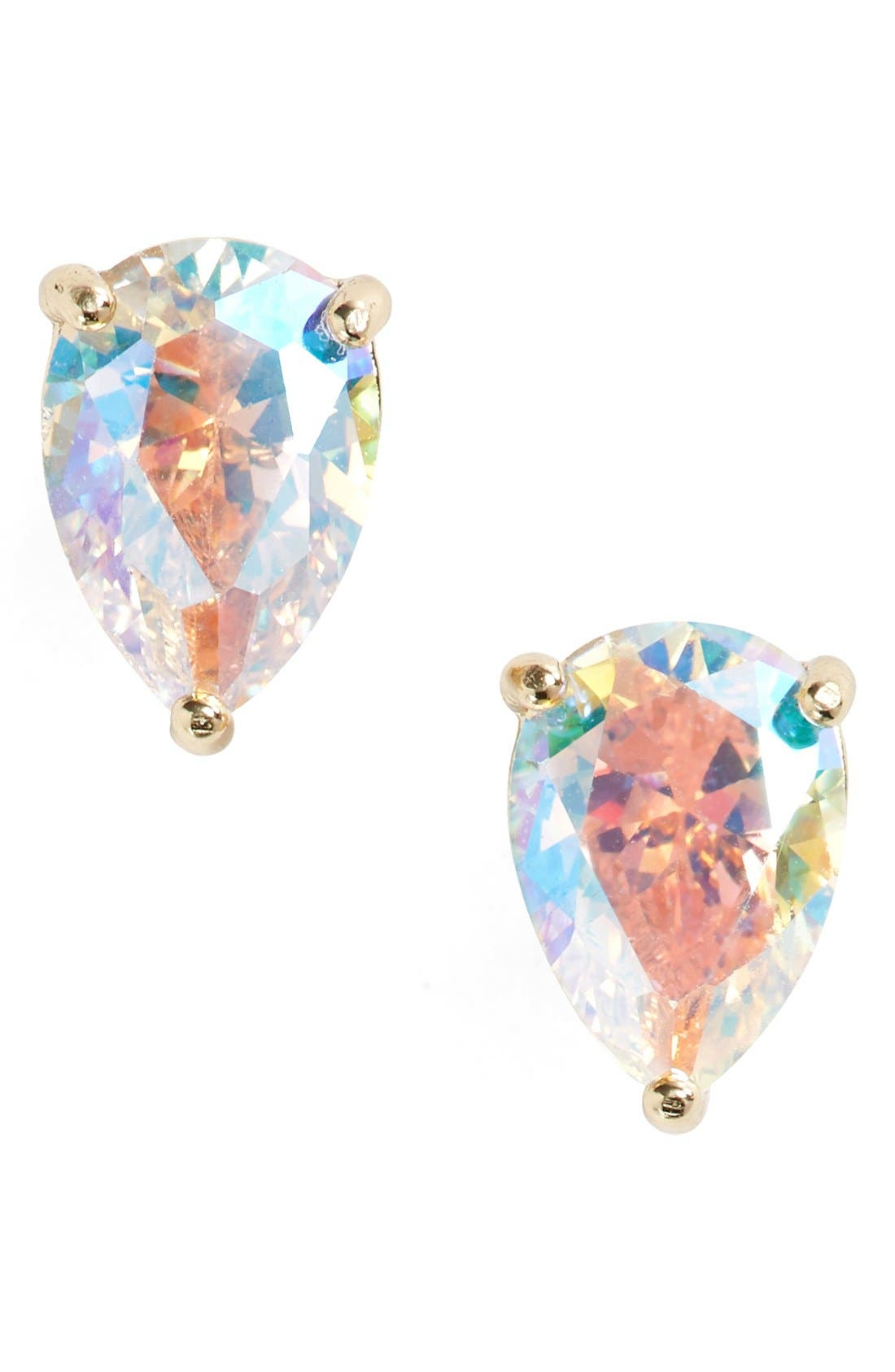 'shine on' crystal stud earrings,                             Main thumbnail 3, color,