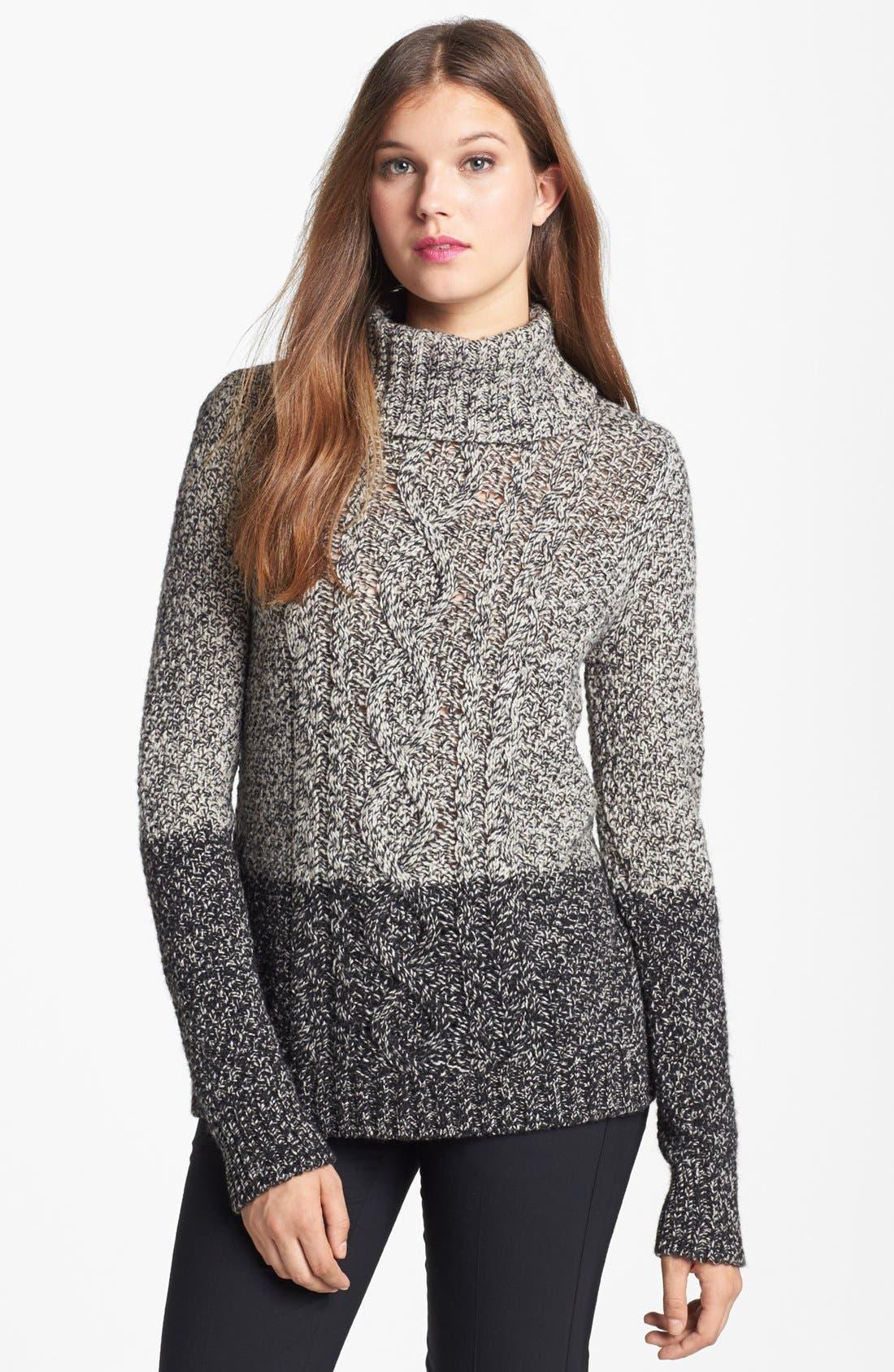 Colorblock Turtleneck Sweater,                             Main thumbnail 1, color,                             020