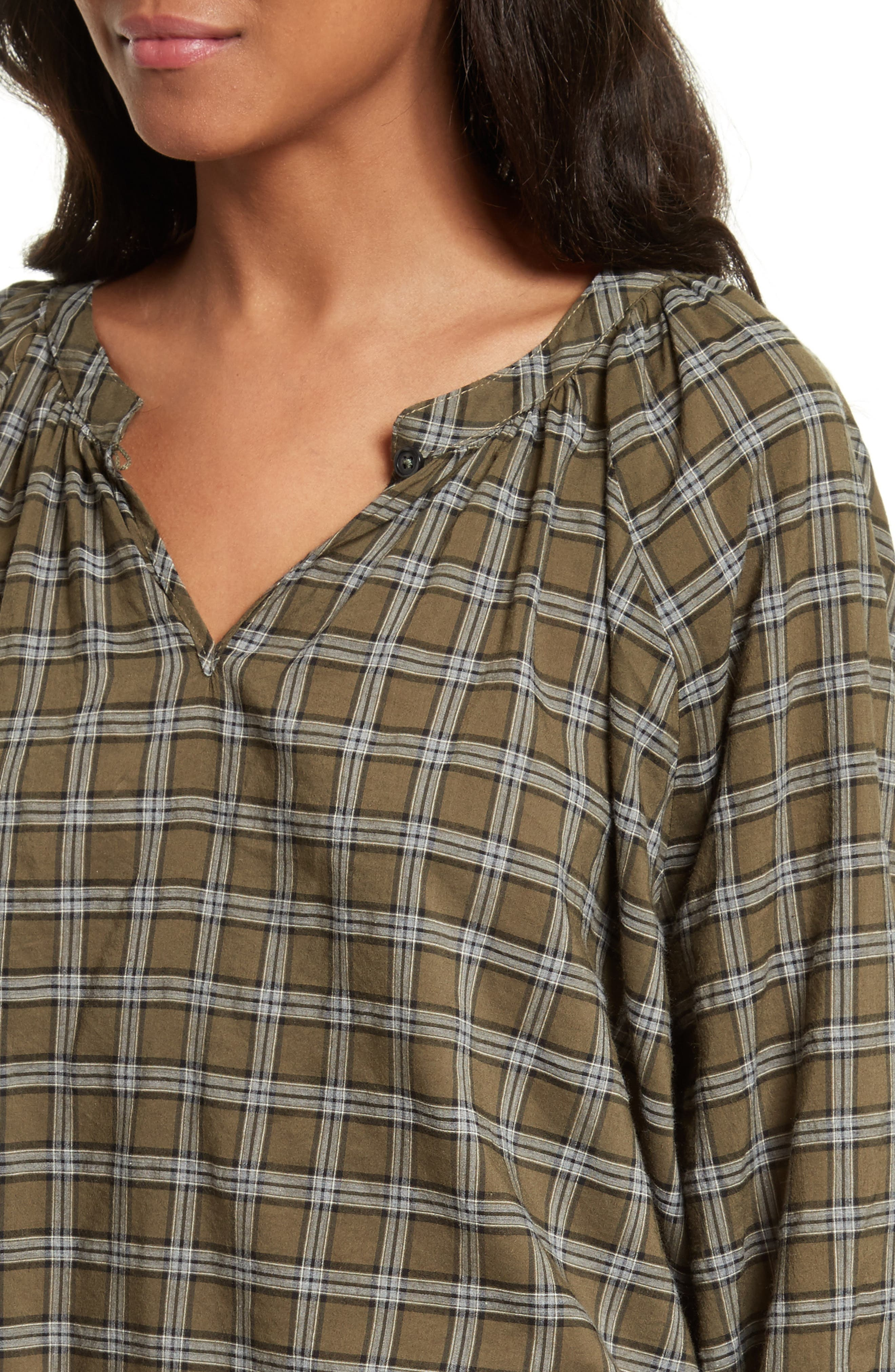 The Wildflower Plaid Top,                             Alternate thumbnail 4, color,                             300