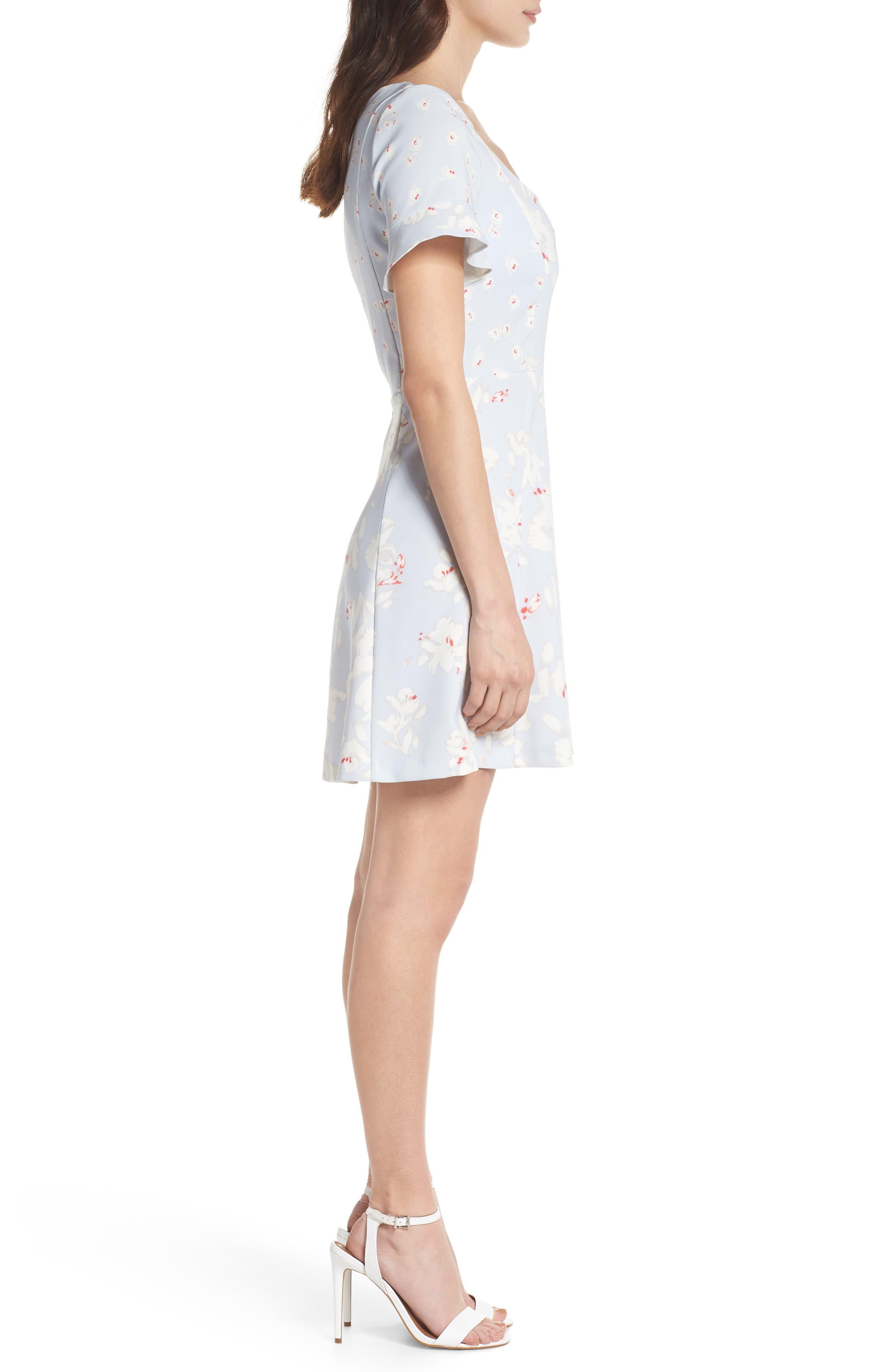 Alba Scoop Neck A-Line Dress,                             Alternate thumbnail 3, color,                             450
