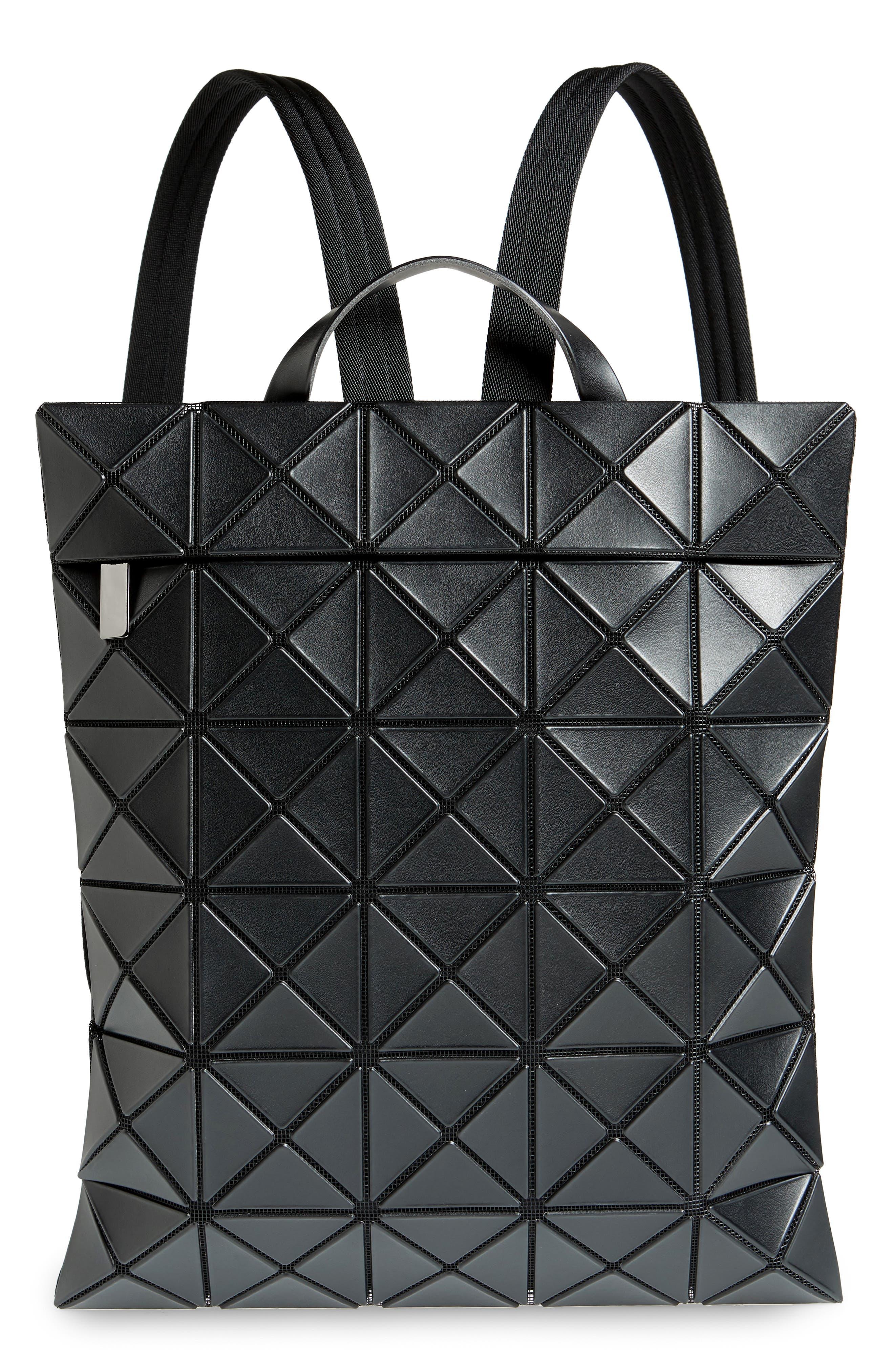 BAO BAO ISSEY MIYAKE,                             Flat Backpack,                             Main thumbnail 1, color,                             MATTE BLACK