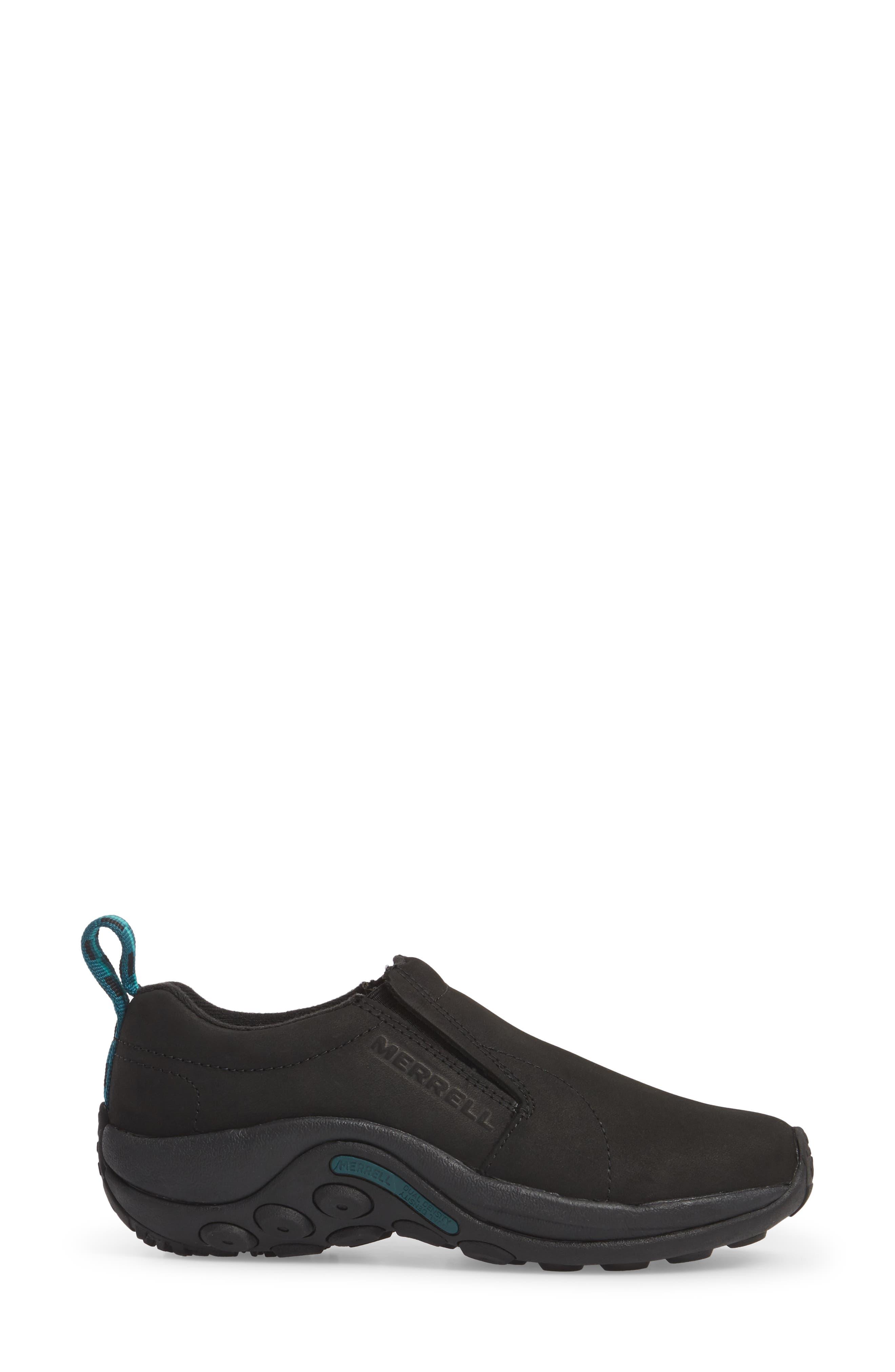 Jungle Moc Nubuck Sneaker,                             Alternate thumbnail 3, color,                             BLACK LEATHER
