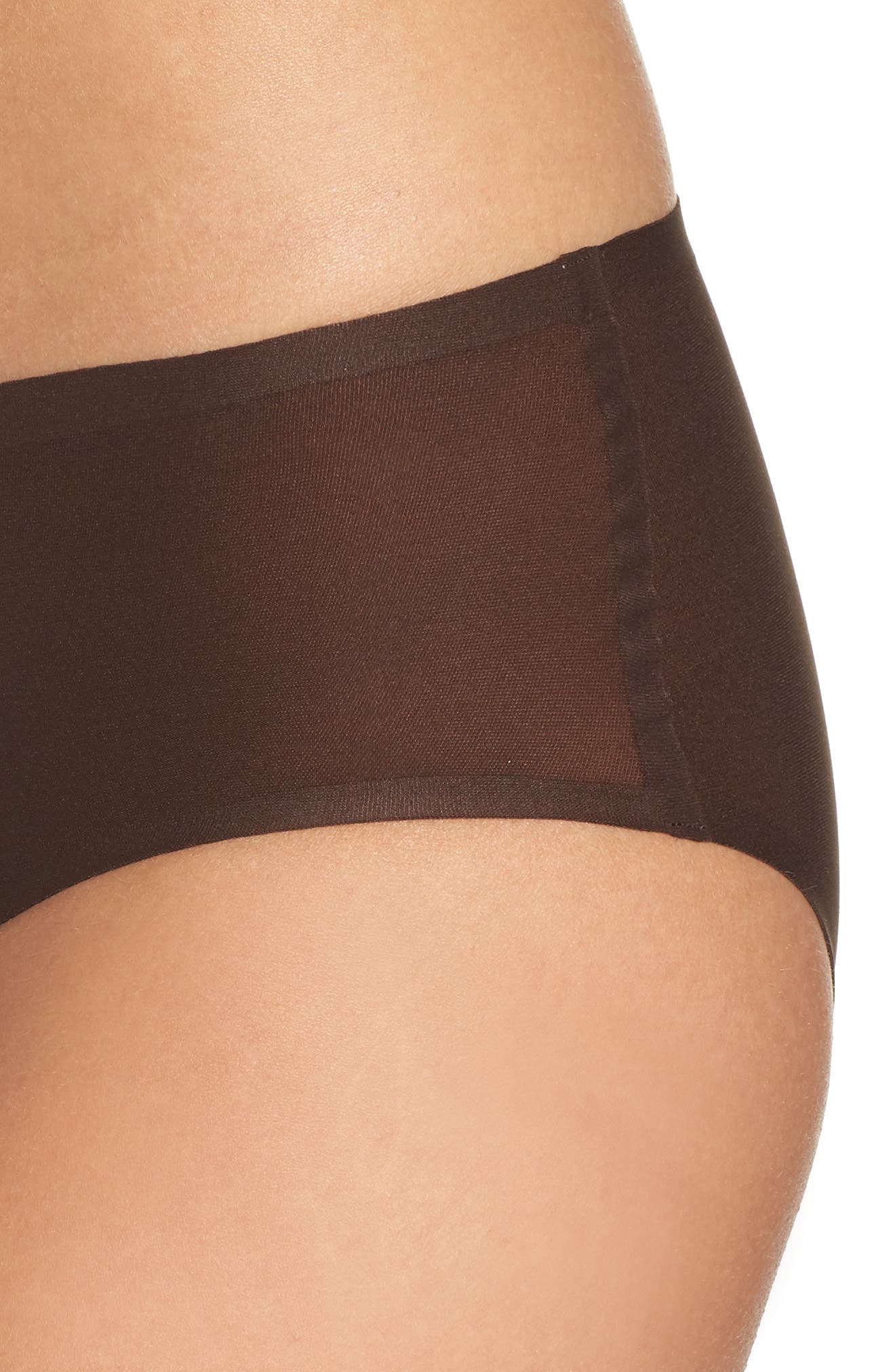 Soft Stretch Seamless Hipster Panties,                             Alternate thumbnail 4, color,                             BROWN