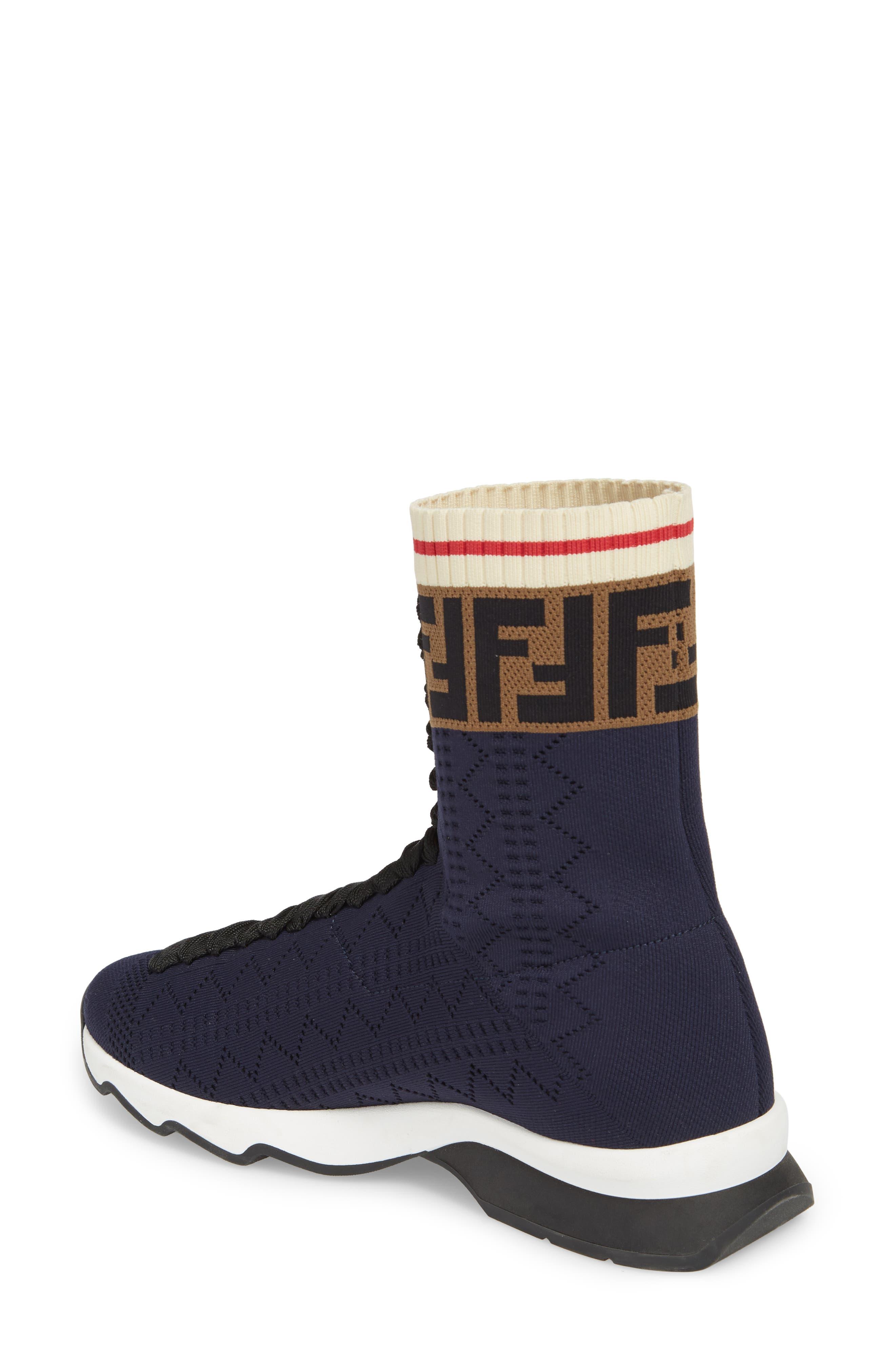 Rockoko Logo Sock Sneaker,                             Alternate thumbnail 2, color,                             NAVY