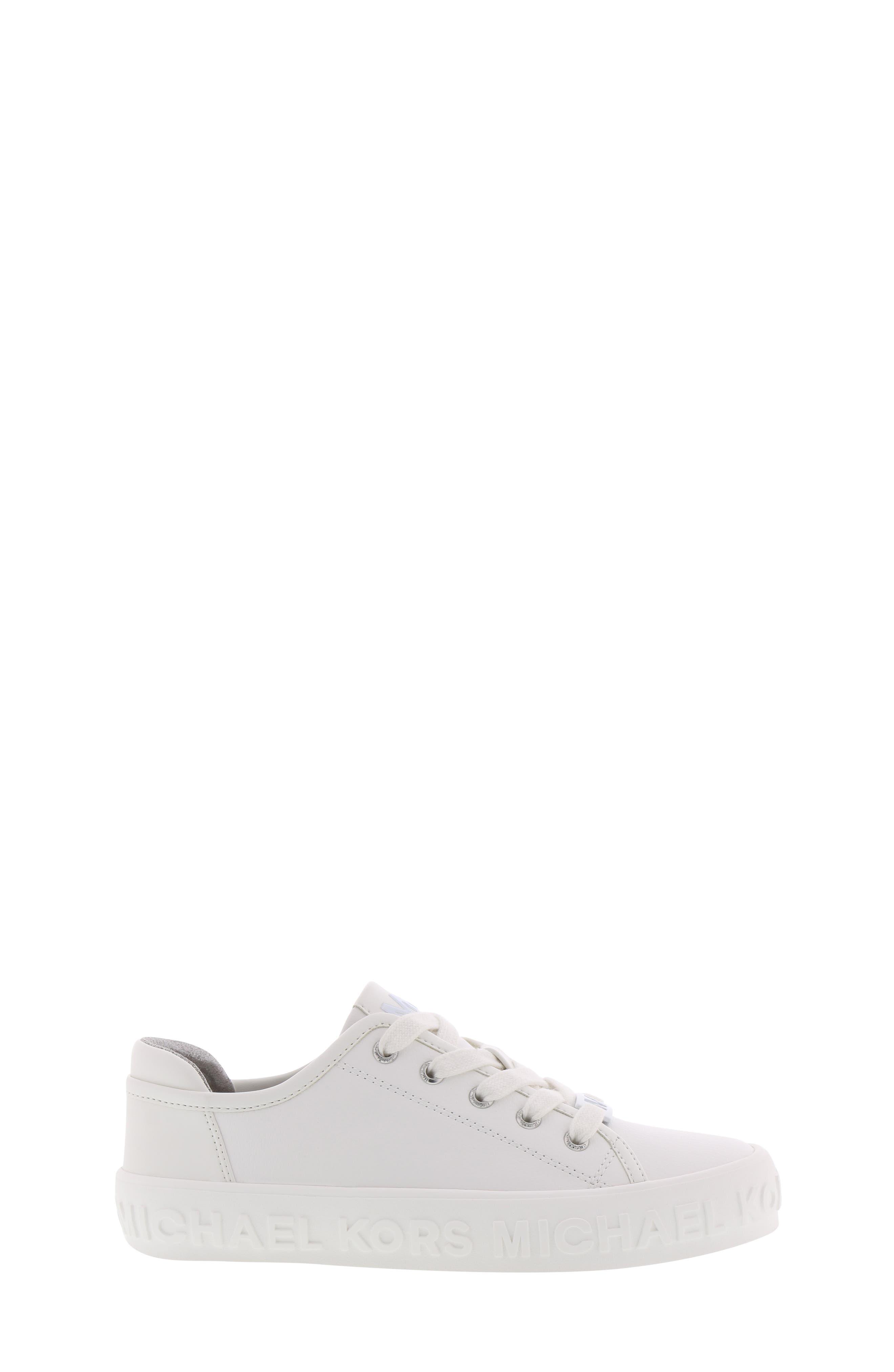 Lemon Spark Logo Sneaker,                             Alternate thumbnail 3, color,                             WHITE