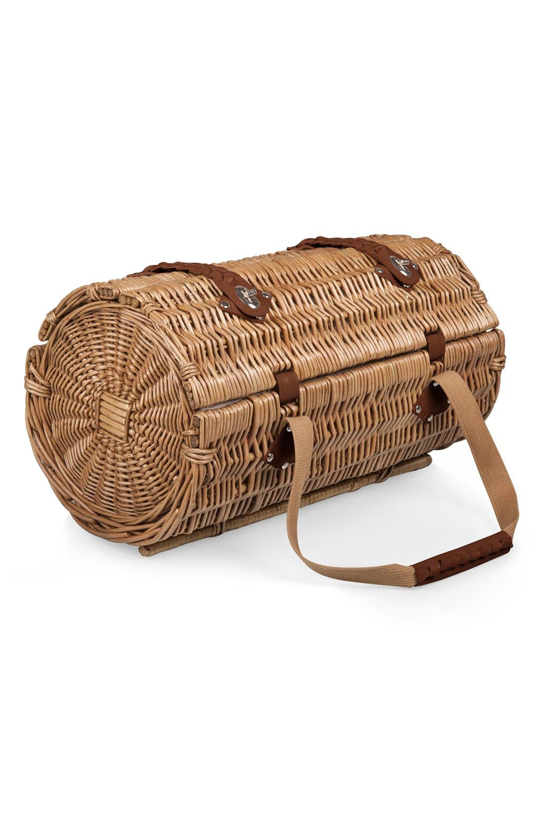 'Verona' Wicker Picnic Basket,                             Alternate thumbnail 3, color,                             400