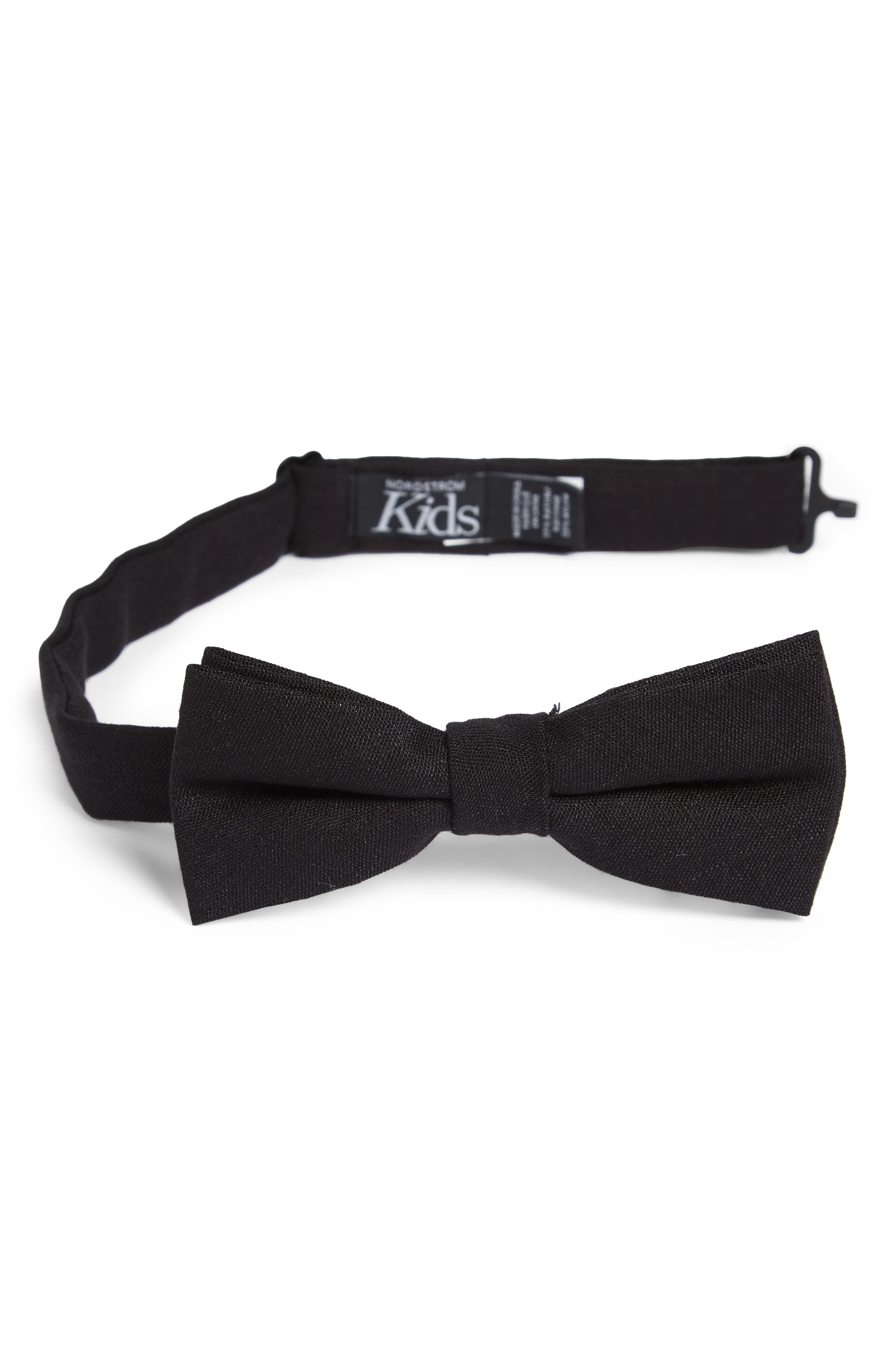 Solid Bow Tie,                         Main,                         color, BLACK