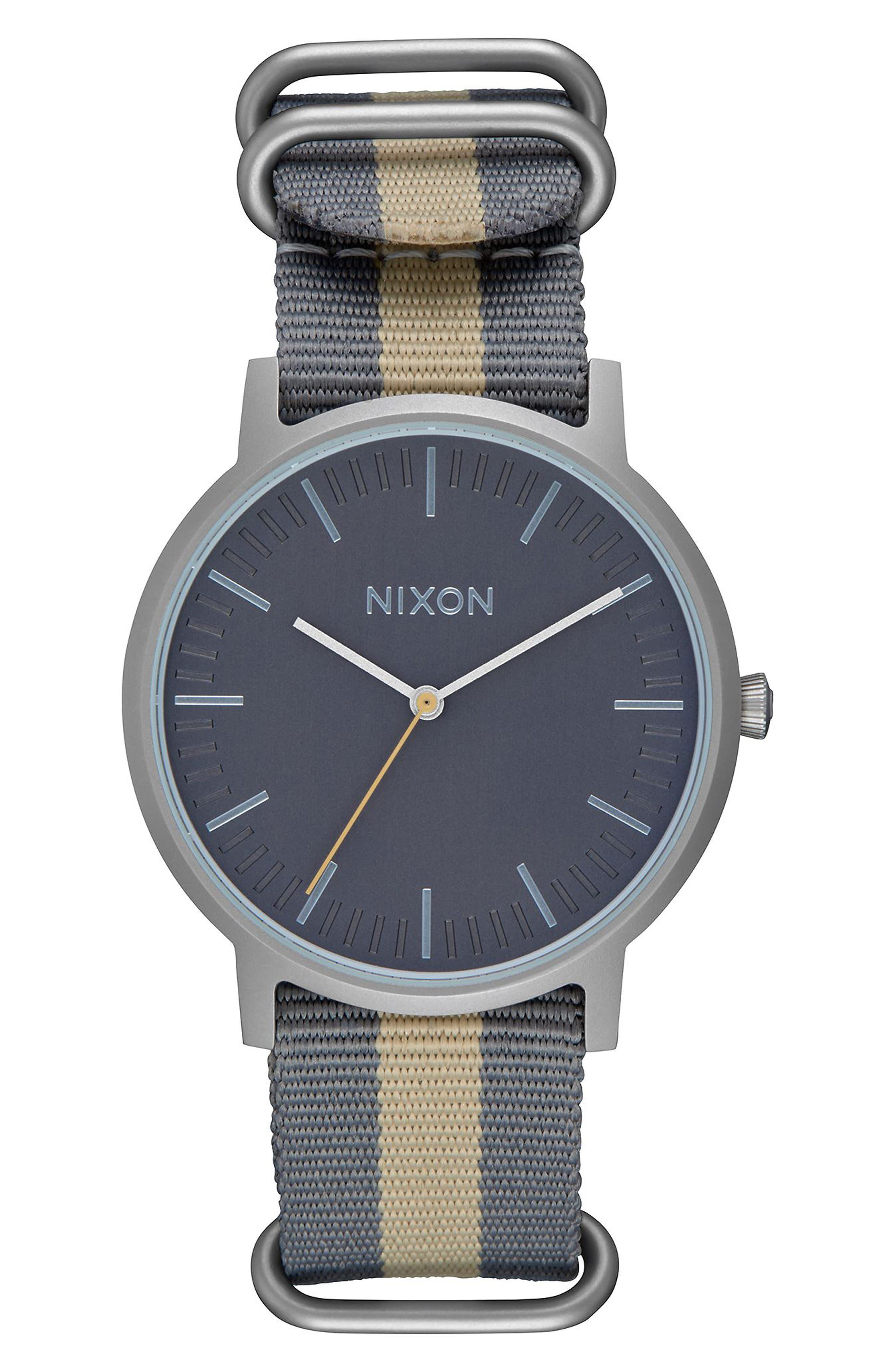 Porter Nylon Strap Watch, 40mm,                             Main thumbnail 3, color,