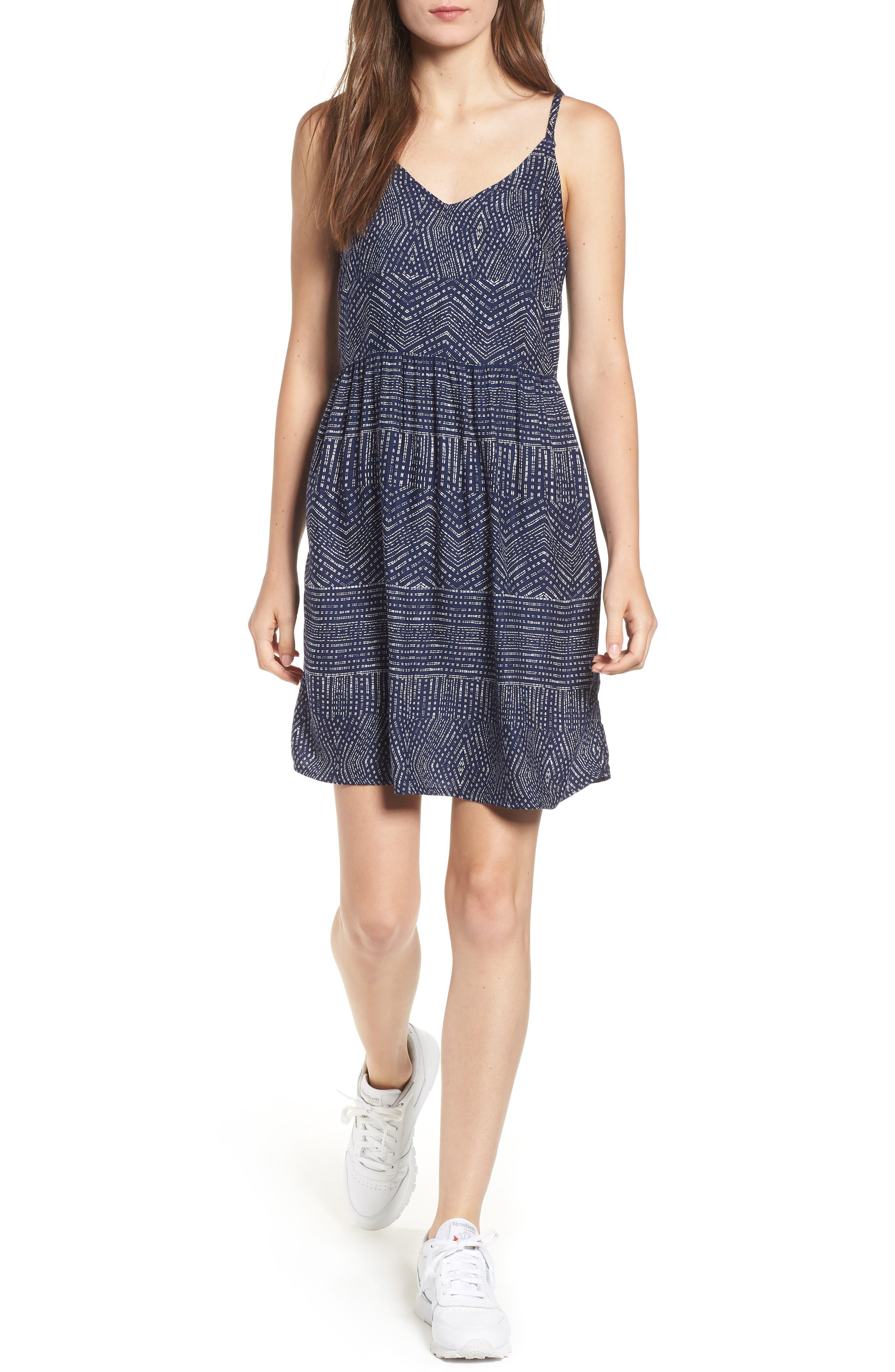 Rvca Nolan Tank Dress, Blue