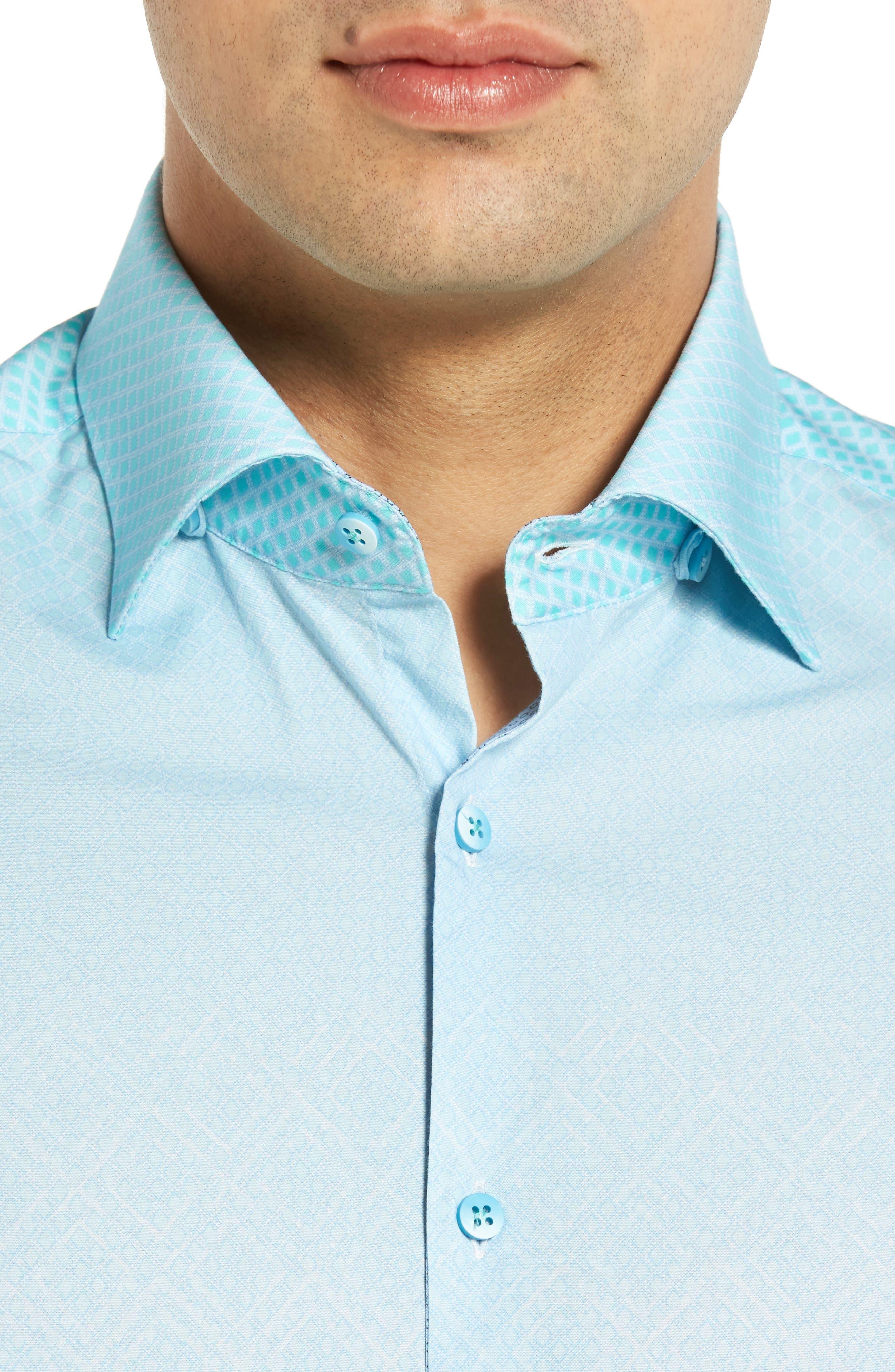 Gradient Diamond Sport Shirt,                             Alternate thumbnail 4, color,                             330