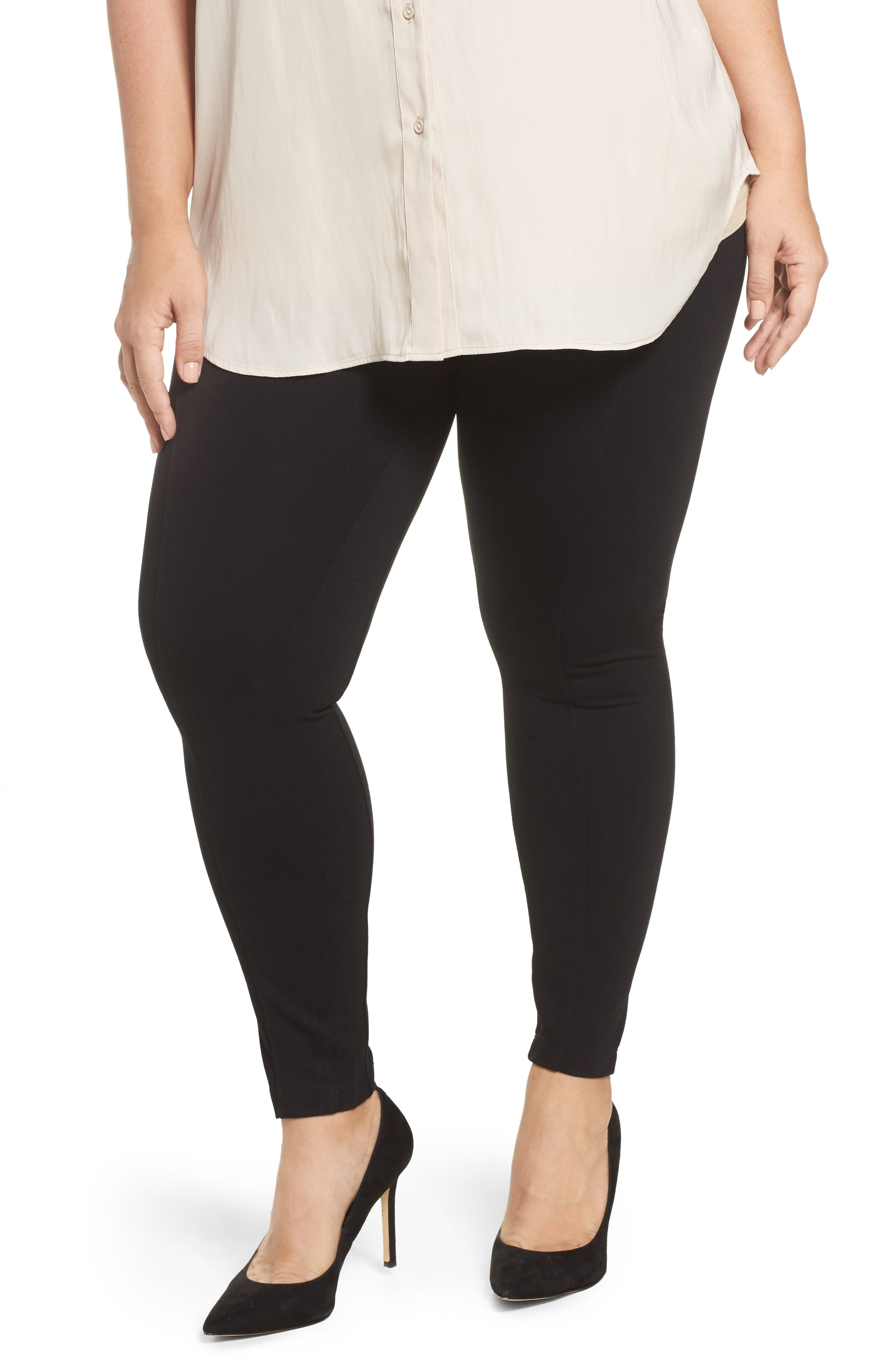 Mara Seamed Ponte Leggings,                             Main thumbnail 1, color,                             001