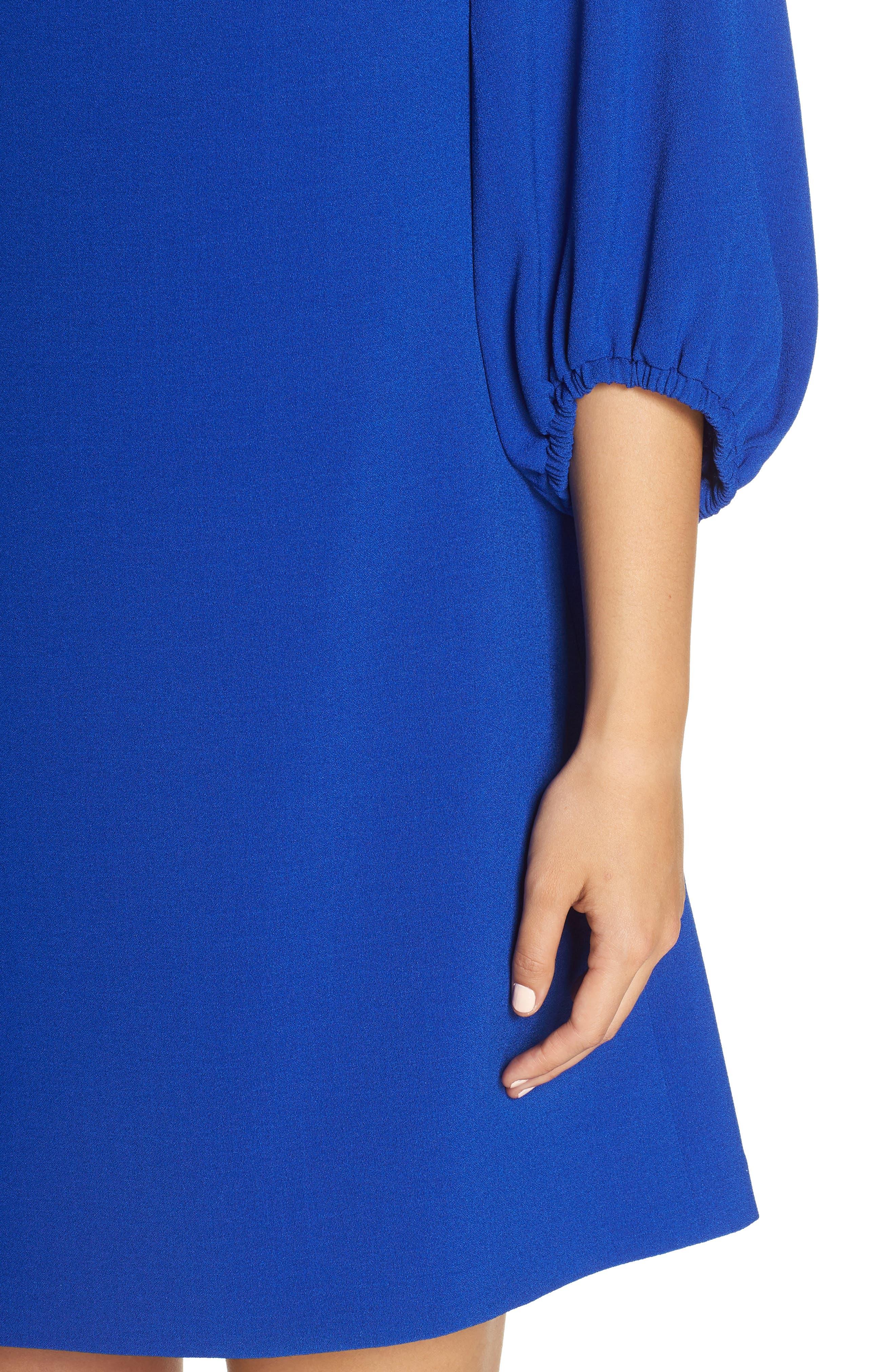 Bloused Sleeve Shift Dress,                             Alternate thumbnail 12, color,