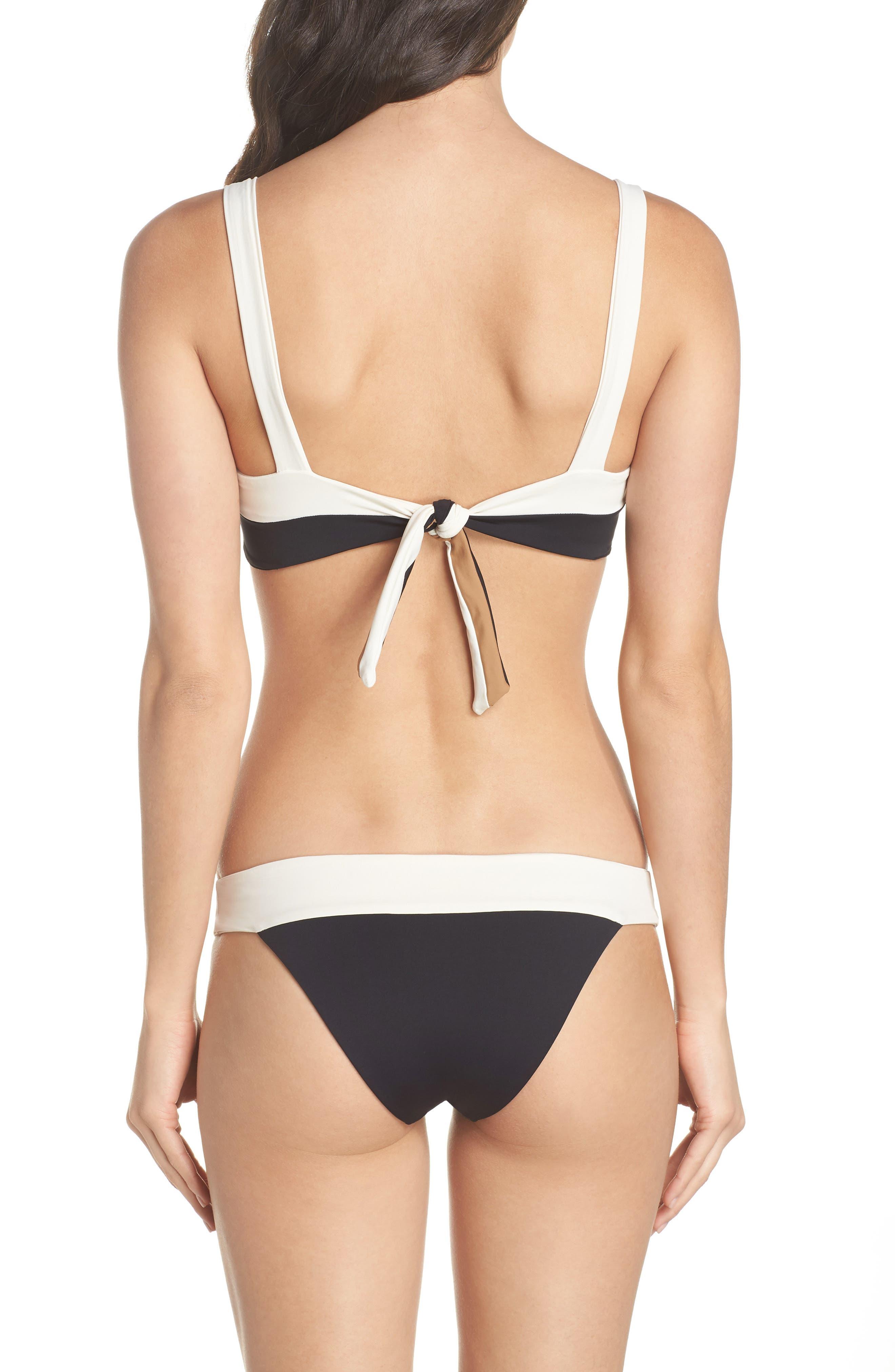 Reversible Bikini Bottom,                             Alternate thumbnail 8, color,                             CREAM/ BLACK/ CAMEL