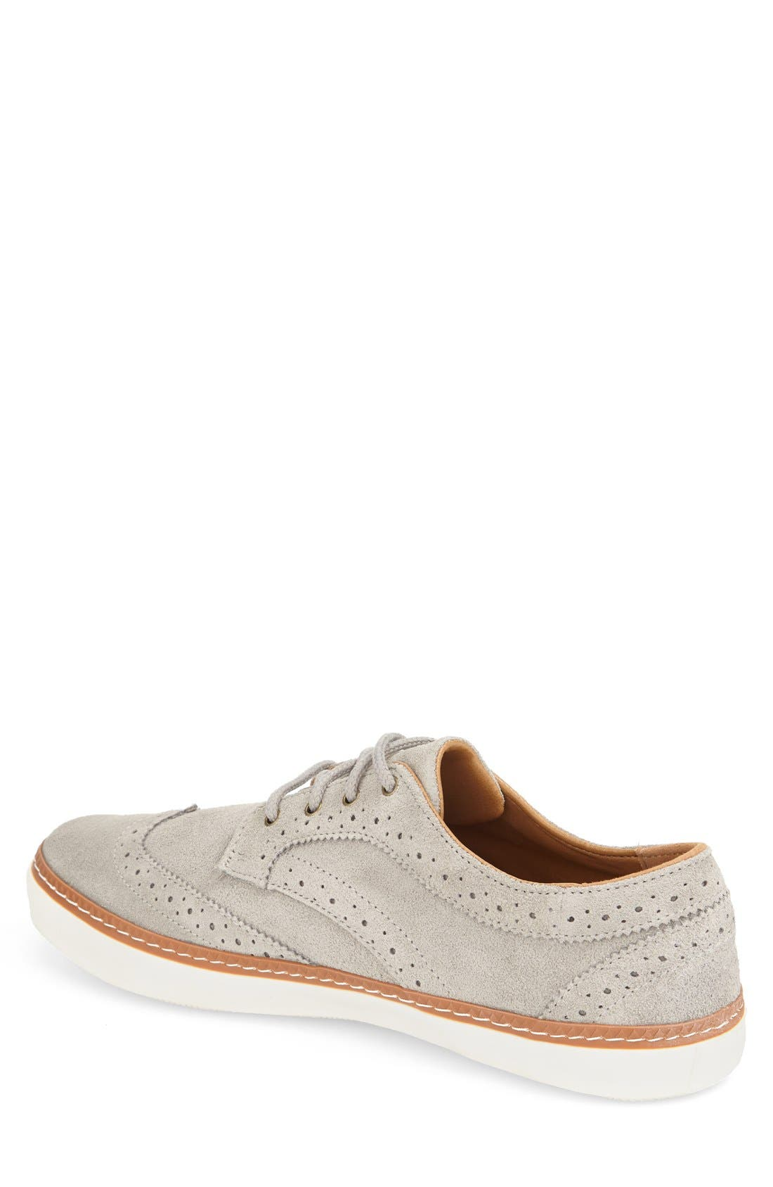 'Novello' Wingtip Sneaker,                             Alternate thumbnail 3, color,                             020