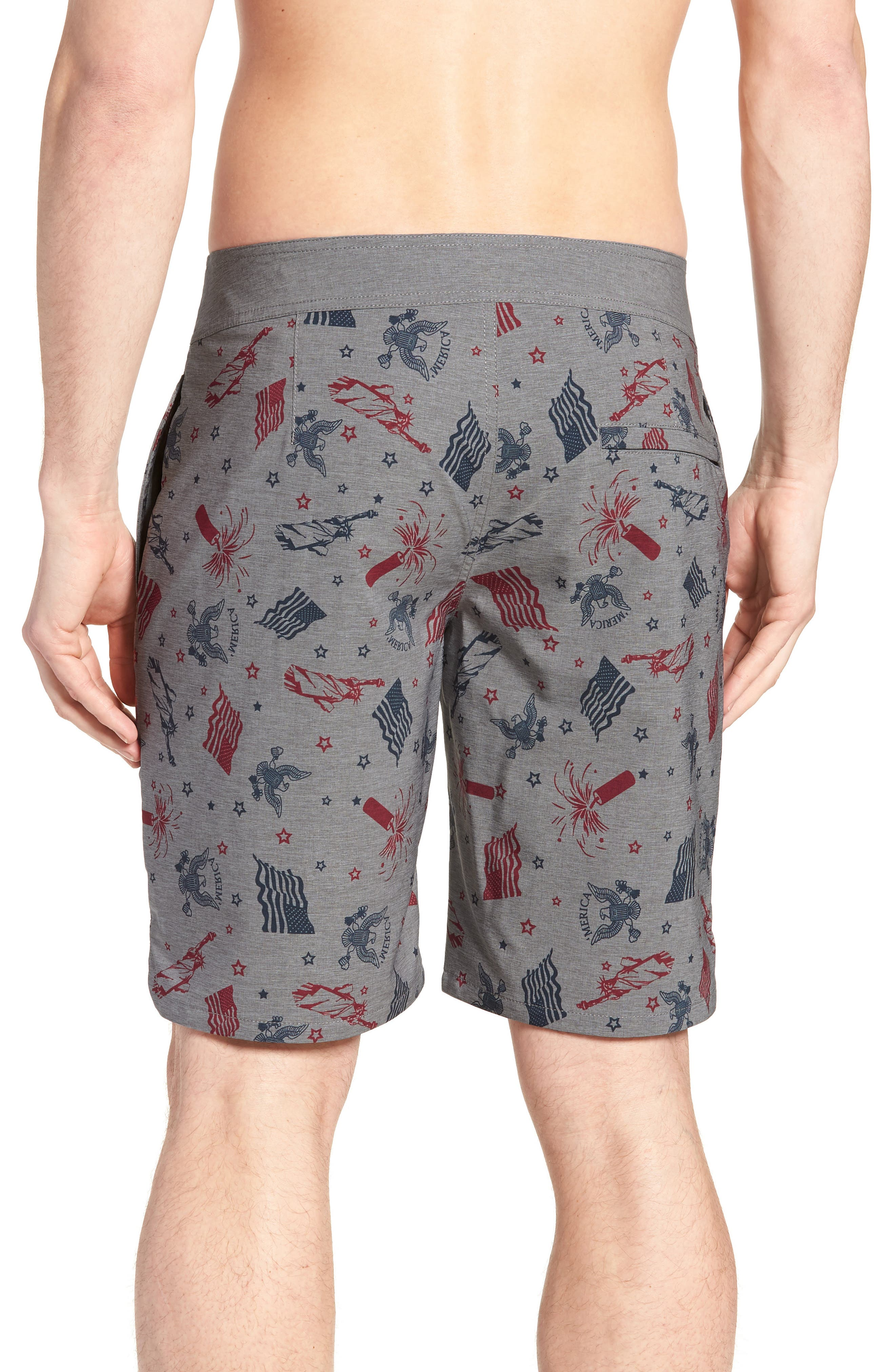 Liberty Swim Trunks,                             Alternate thumbnail 2, color,                             HEATHER GRIFFIN