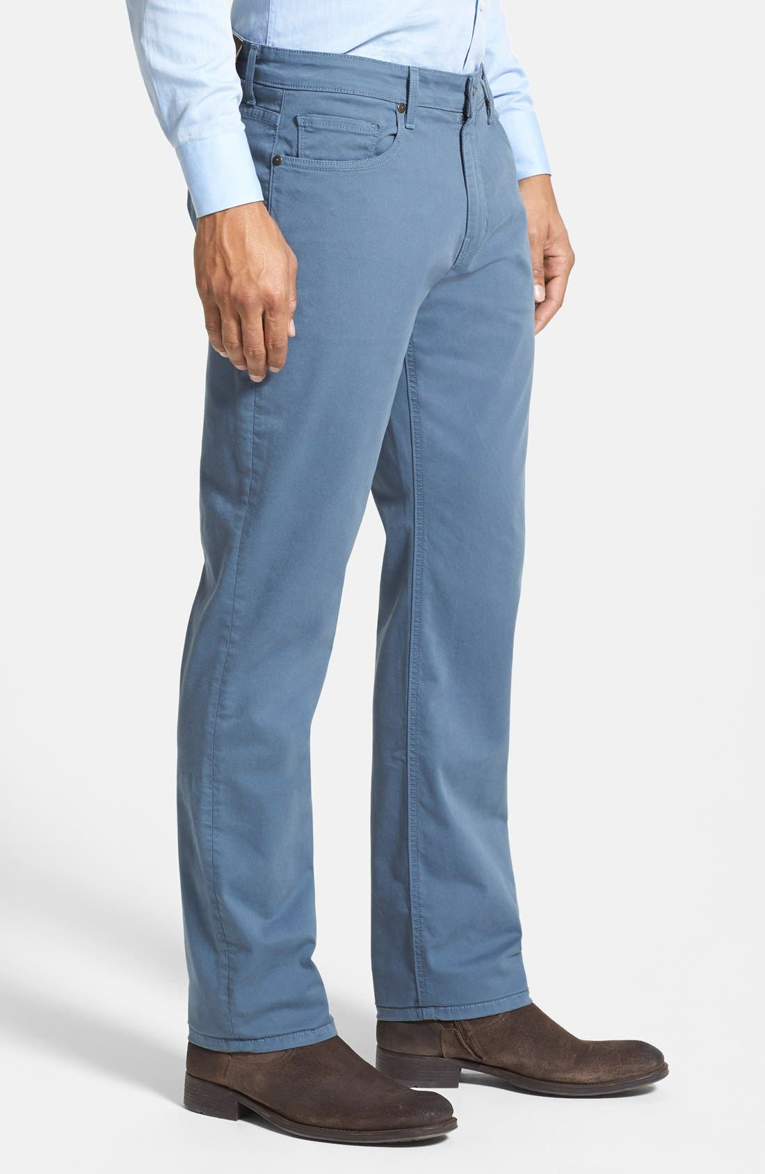 Normandie Slim Straight Leg Twill Pants,                             Alternate thumbnail 28, color,