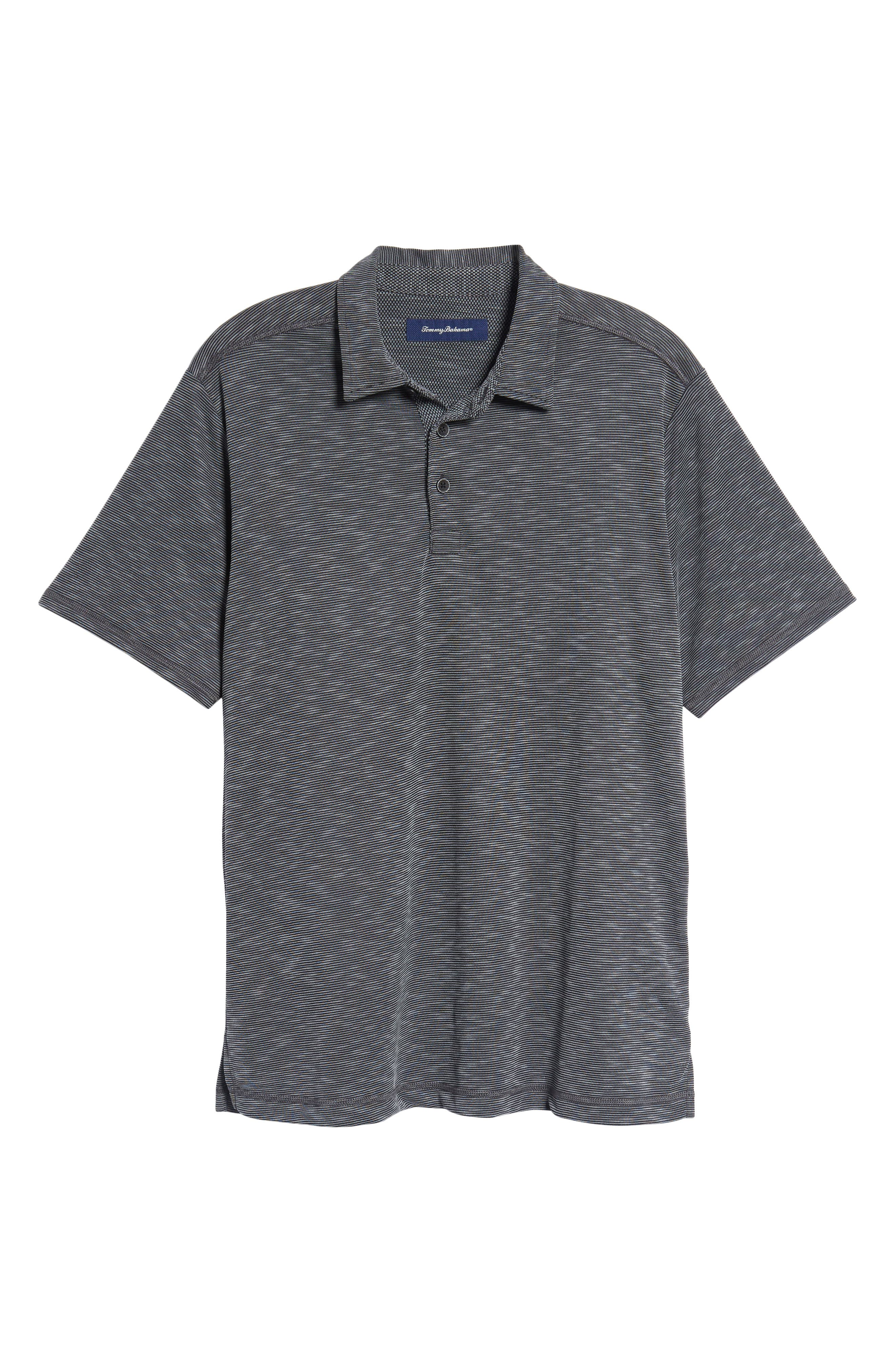 New Double Tempo Spectator Jersey Polo,                             Alternate thumbnail 6, color,                             001