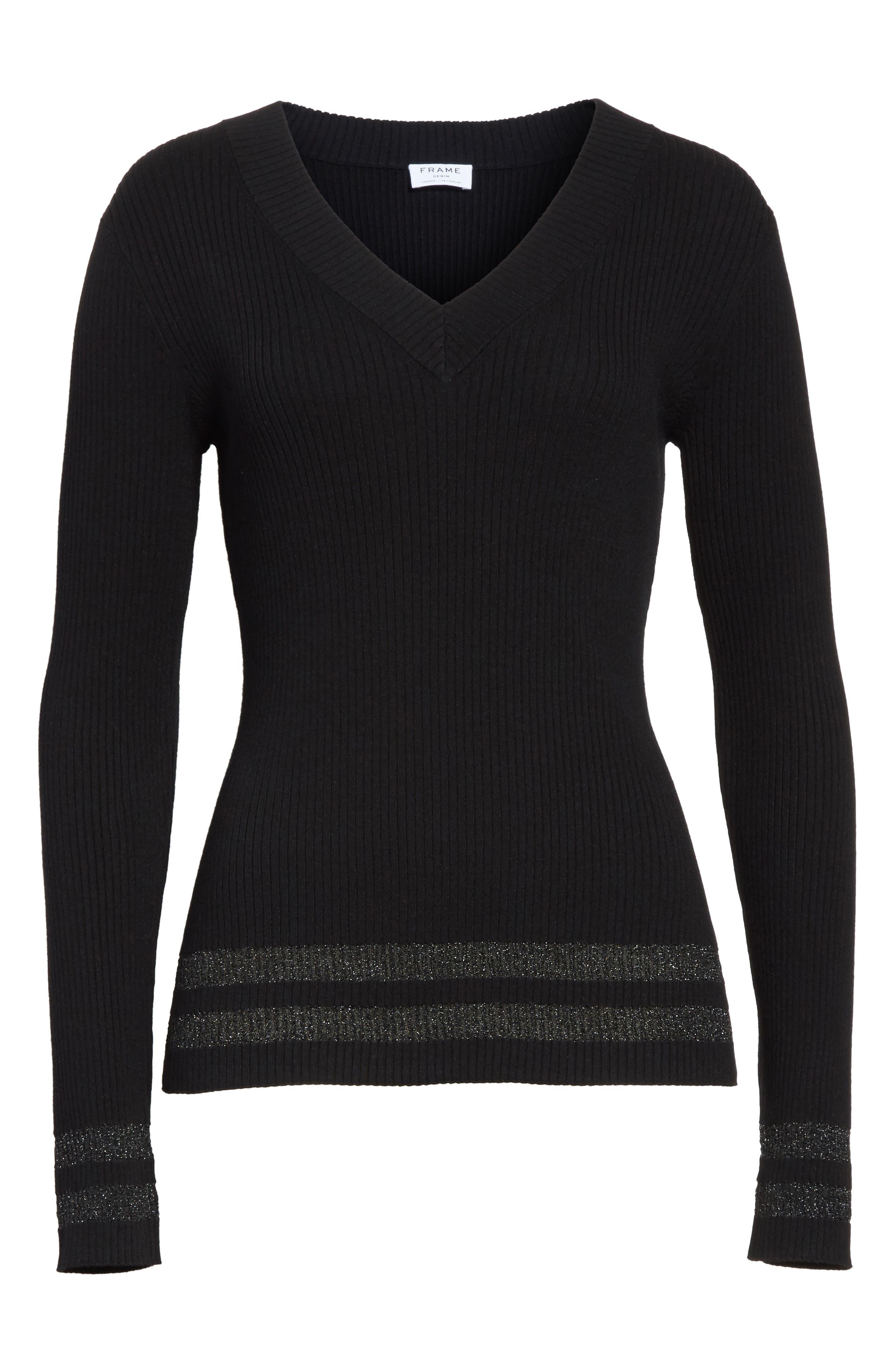 Metallic Knit Sweater,                             Alternate thumbnail 6, color,
