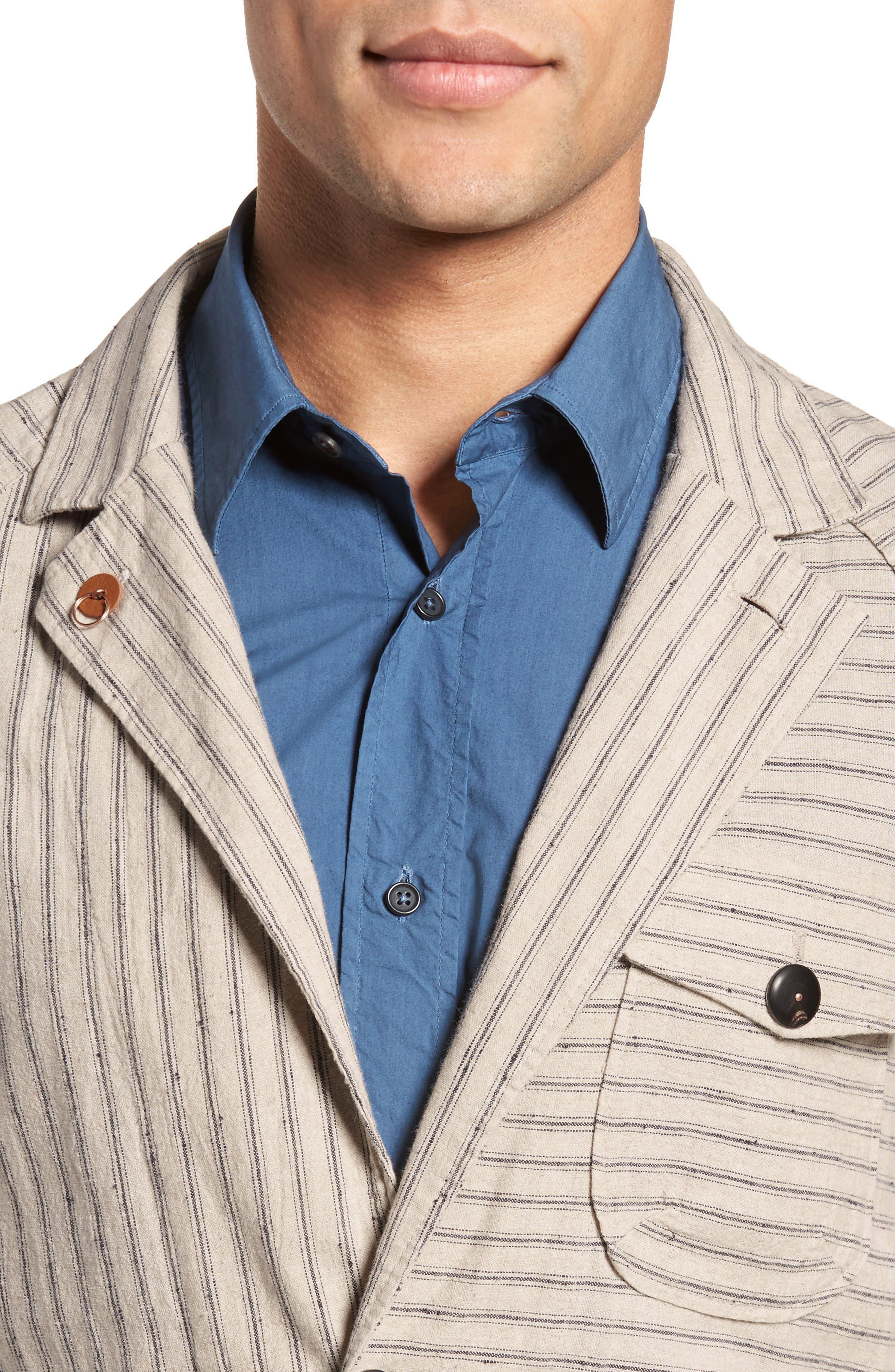 Harrison Linen & Cotton Jacket,                             Alternate thumbnail 4, color,                             274