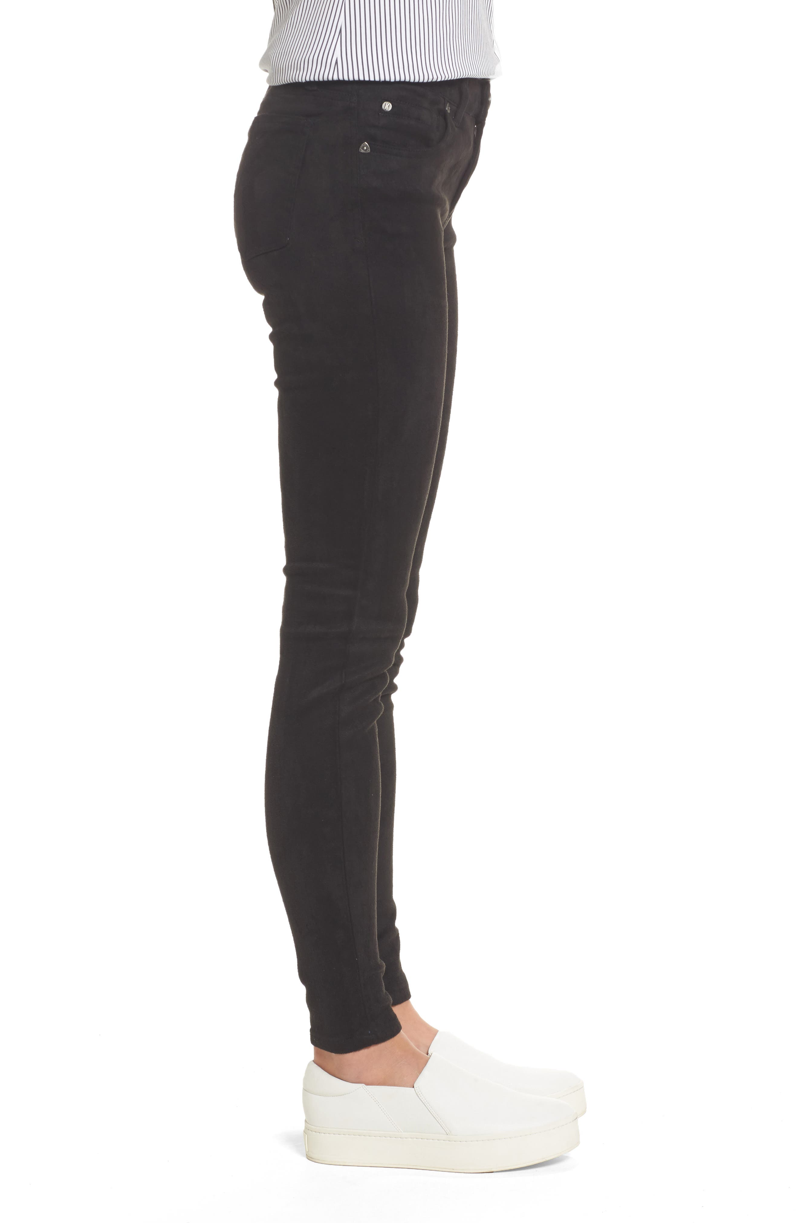 Mia Faux Suede Skinny Jeans,                             Alternate thumbnail 3, color,                             002