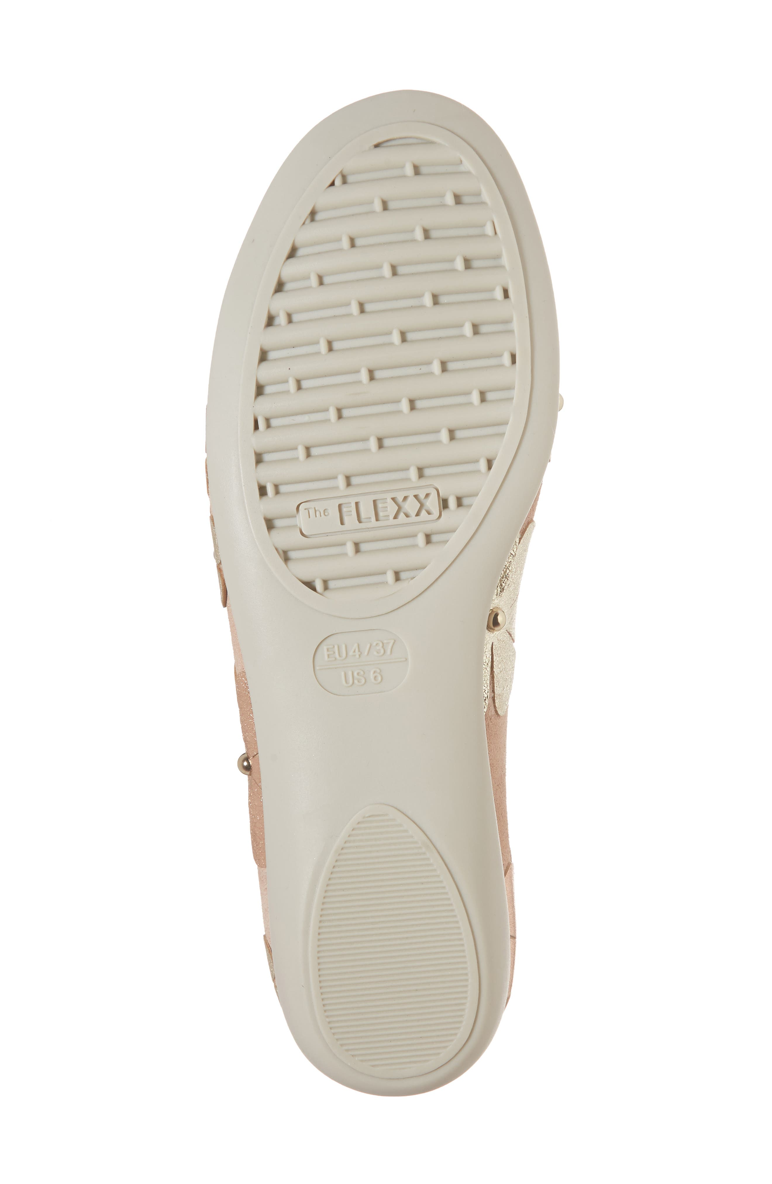 Miss Hippie Ballerina Flat,                             Alternate thumbnail 6, color,                             ROSE GOLD LEATHER