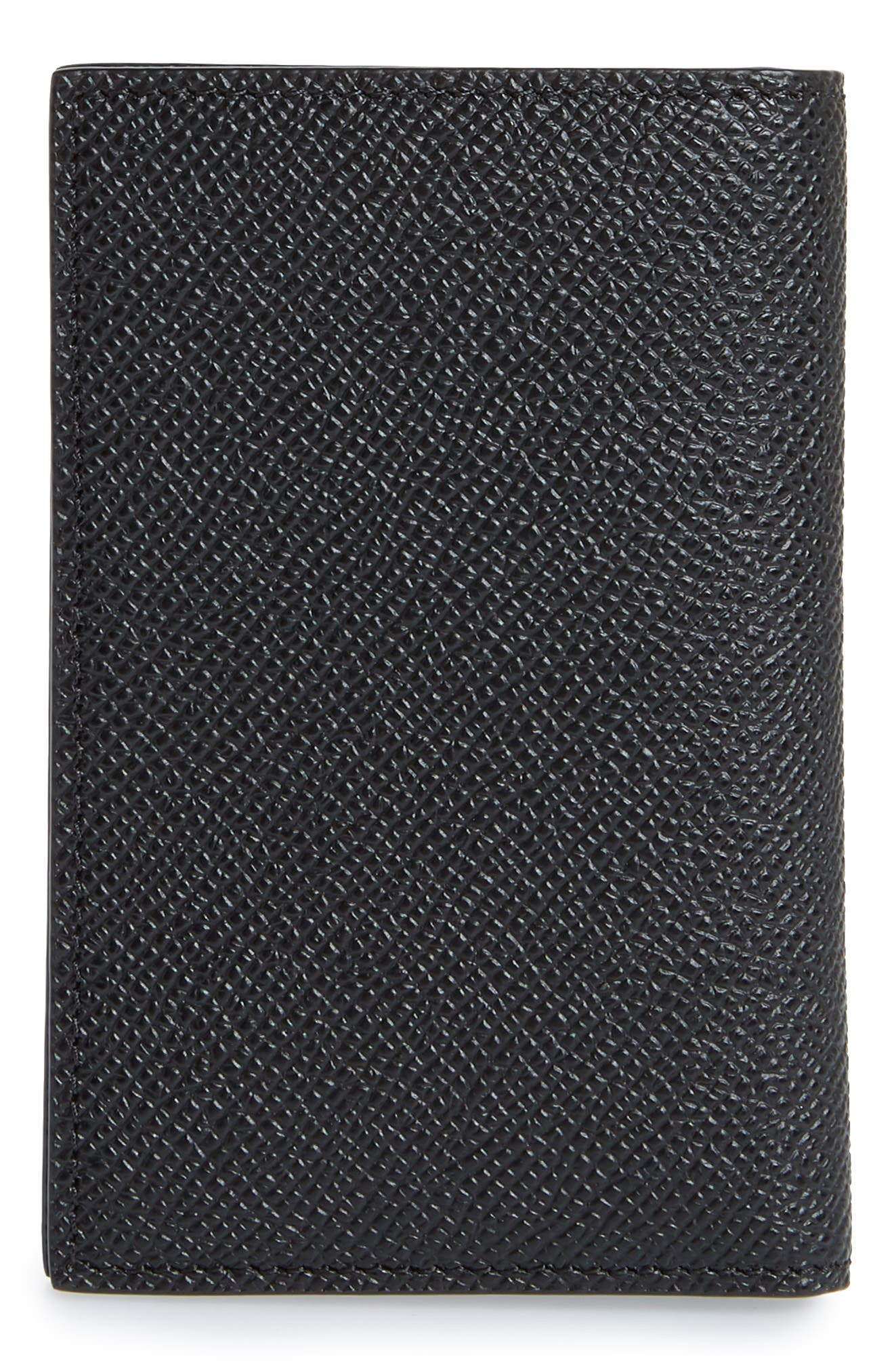 Aros Leather Card Case,                             Alternate thumbnail 3, color,                             BLACK