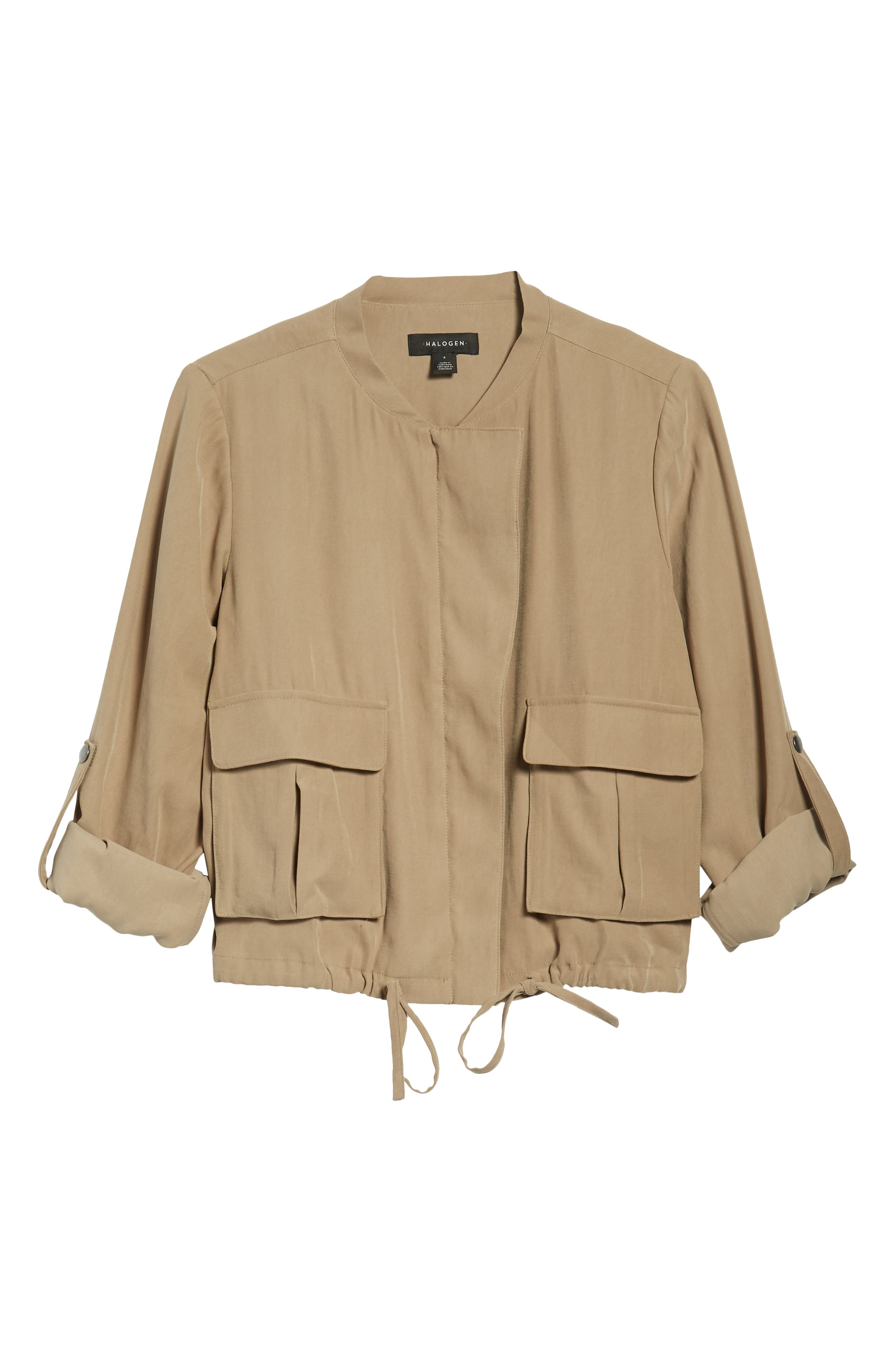 Twill Zip Front Jacket,                             Alternate thumbnail 11, color,