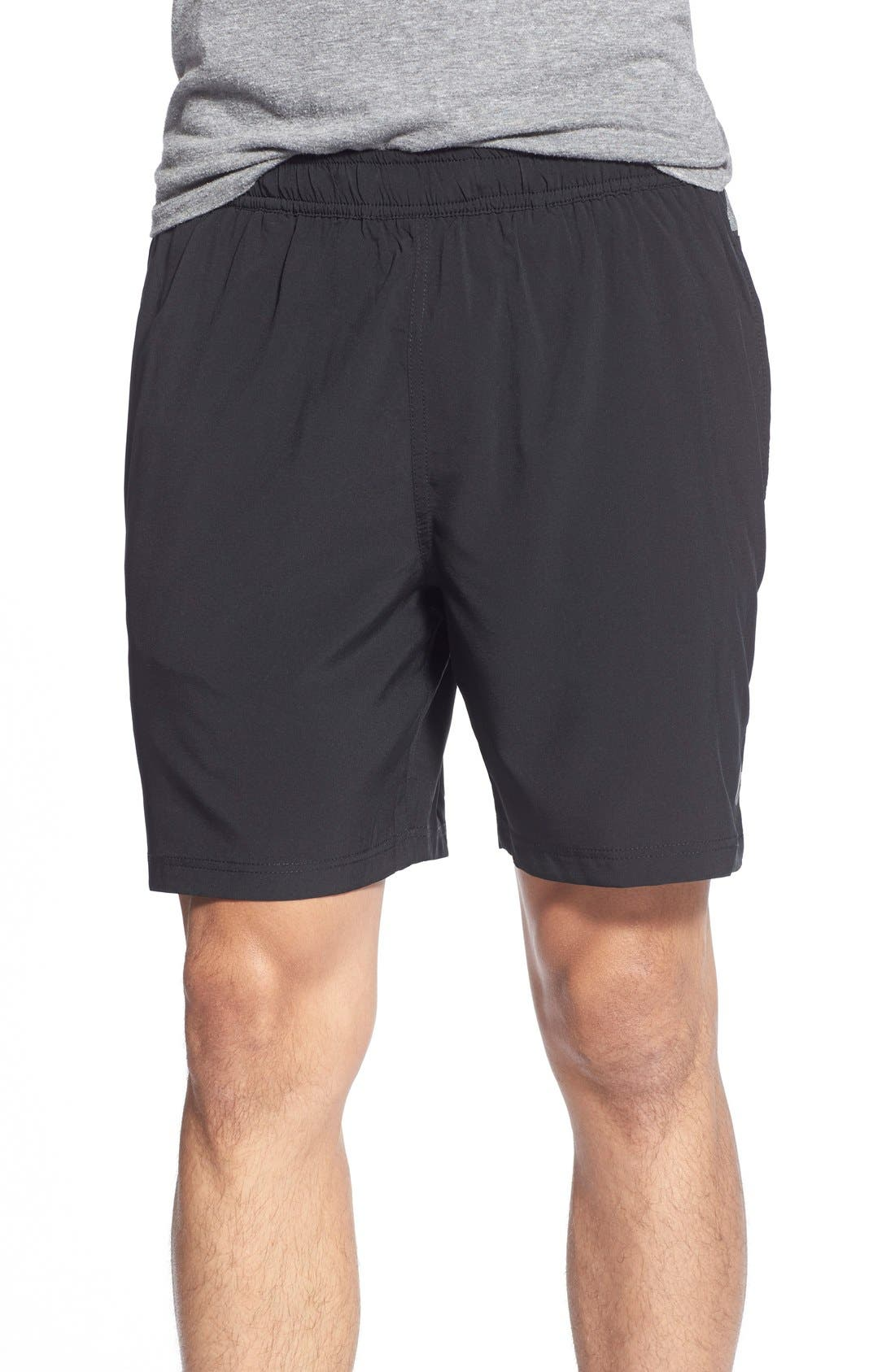 ATHLETIC RECON,                             '6.5' Stretch Woven Performance Shorts,                             Main thumbnail 1, color,                             001