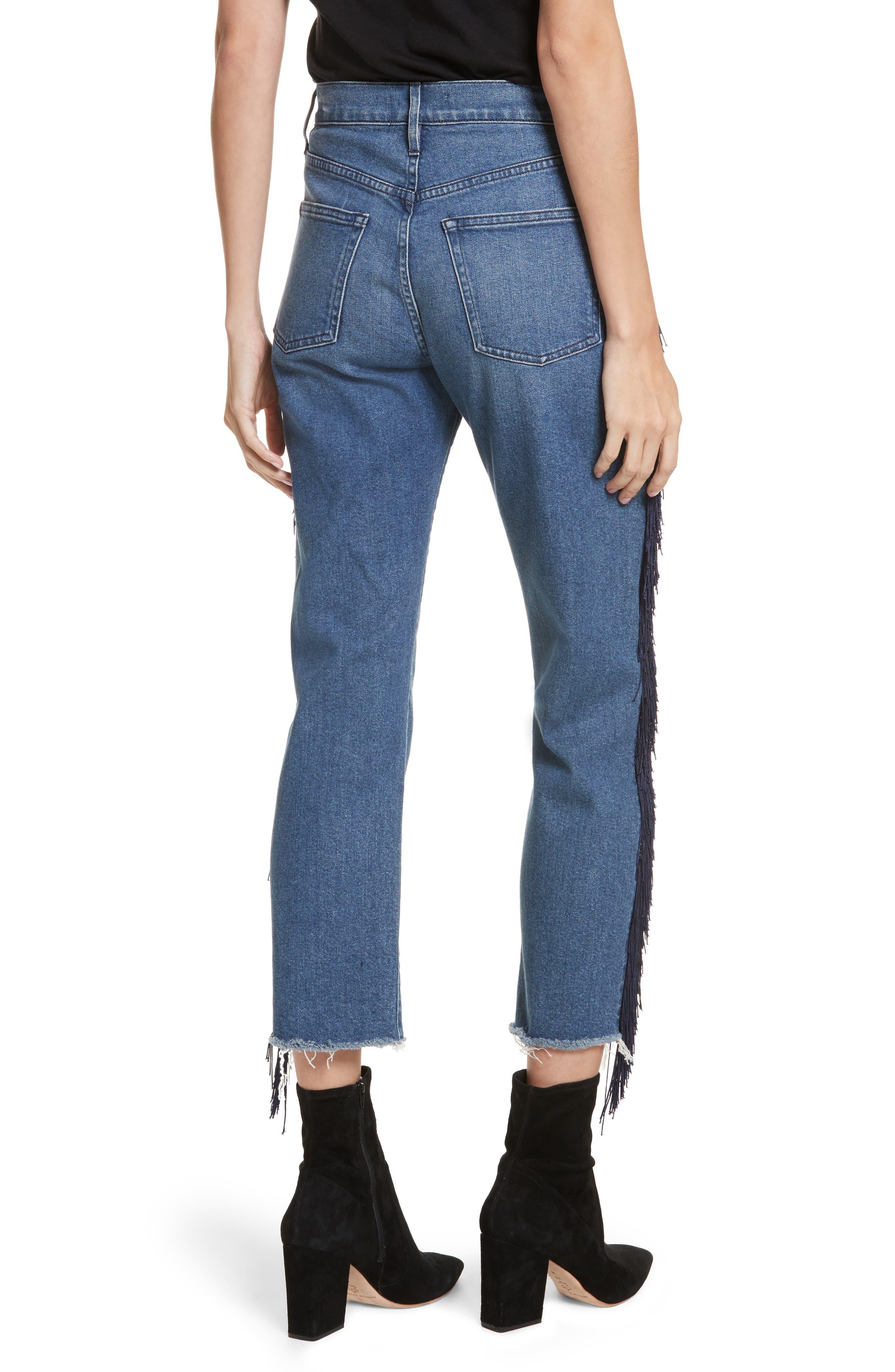 W3 Higher Ground Fringe Crop Straight Leg Jeans,                             Alternate thumbnail 2, color,                             426