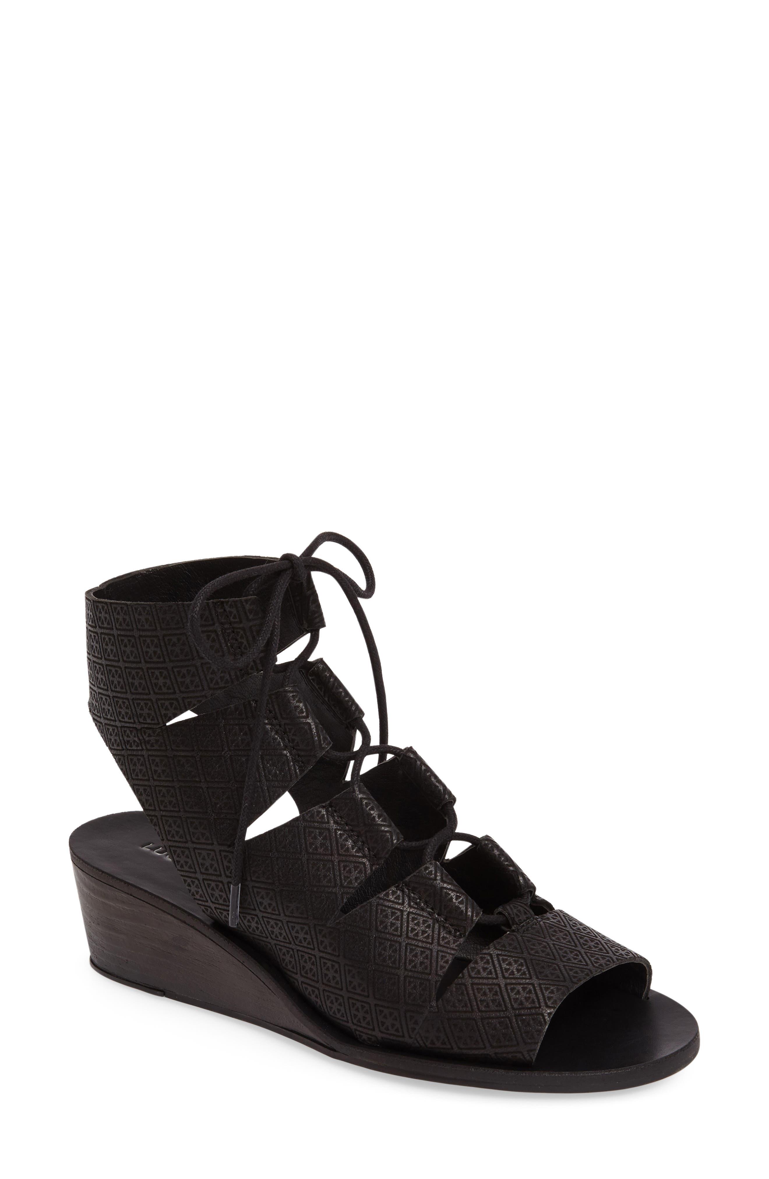 Gizi Wedge Sandal,                         Main,                         color, 001